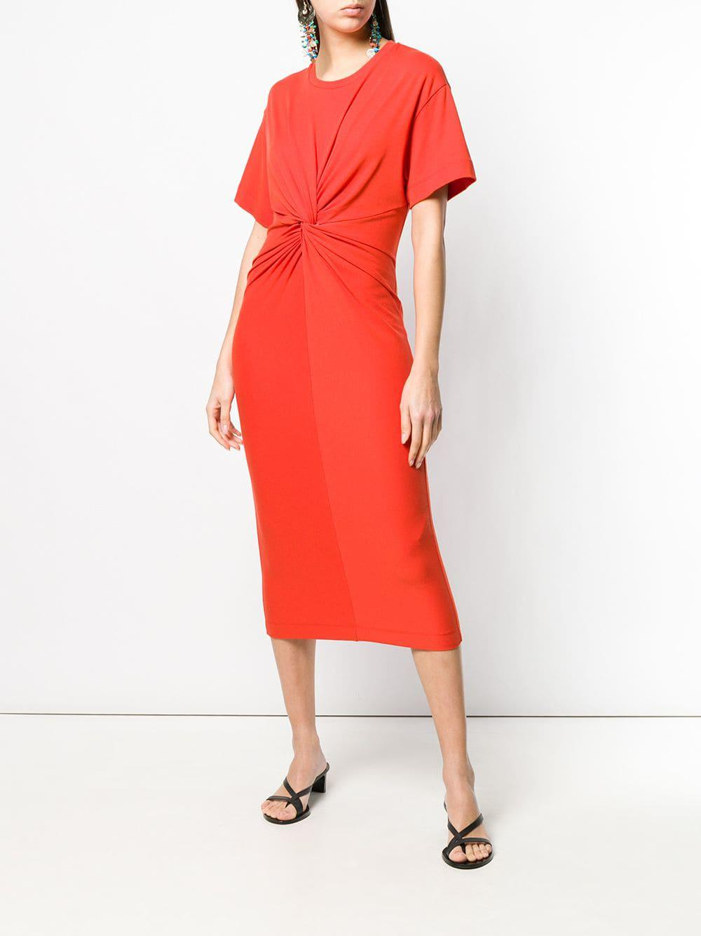 dbb92f36fea7 Erika Cavallini Semi Couture Dafne Cotton Dress in Orange - Save 1% - Lyst