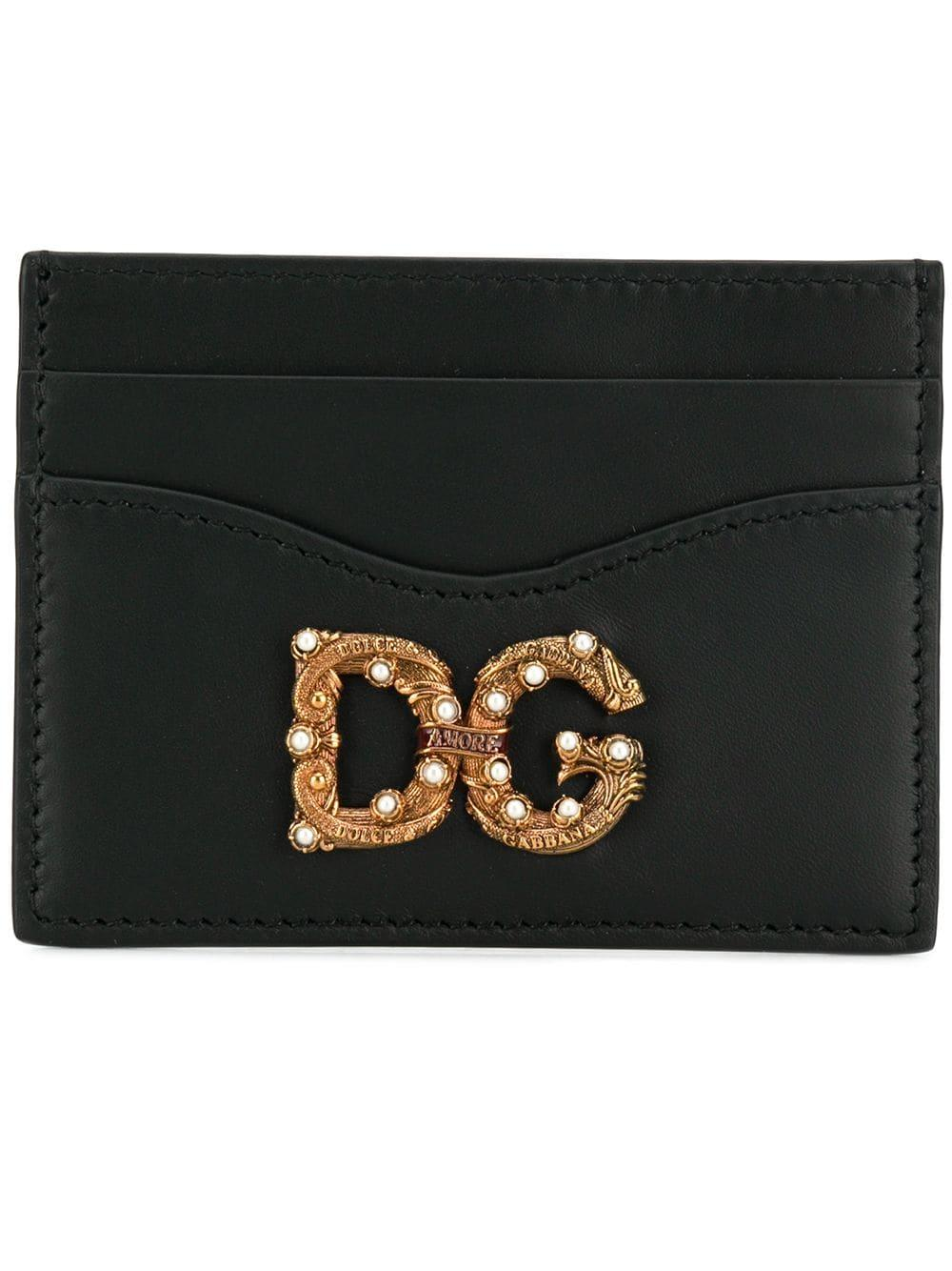 a73feb6ef41 Lyst - Dolce   Gabbana Dg Cardholder in Black - Save 40%