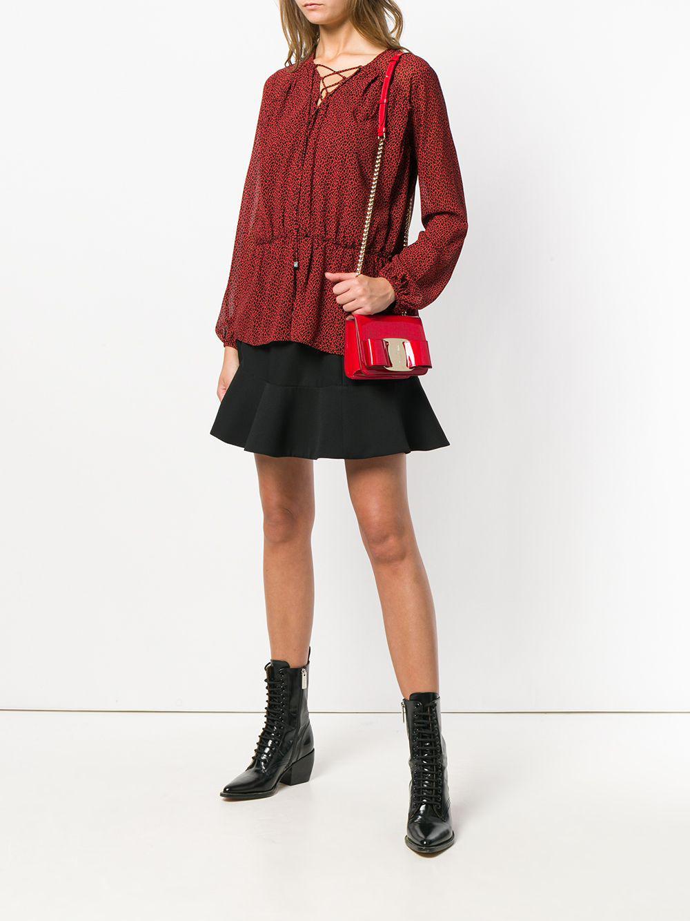 Ferragamo - Red Vara Mini Shoulder Bag - Lyst. View fullscreen 99d007d96bd35