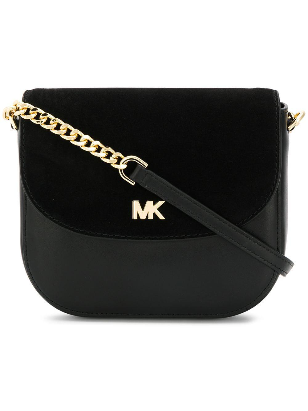 dca3bf16fd41 Michael Michael Kors Leather Crossbody Bag in Black - Lyst