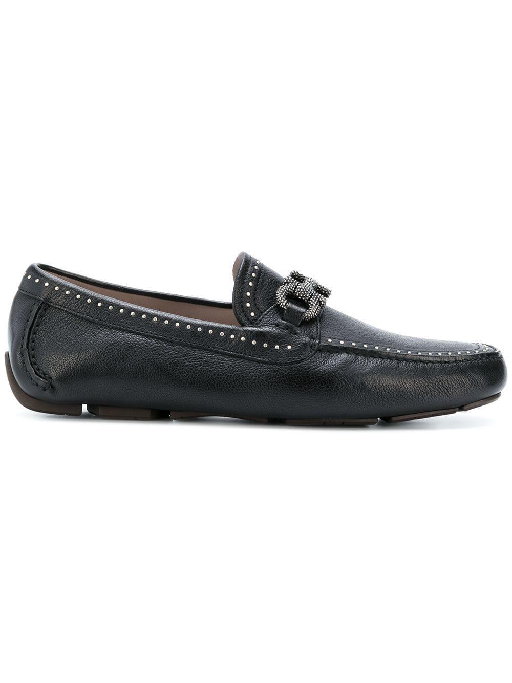 e02bc4838c3 Ferragamo Parigi Studs Loafer in Black for Men - Lyst