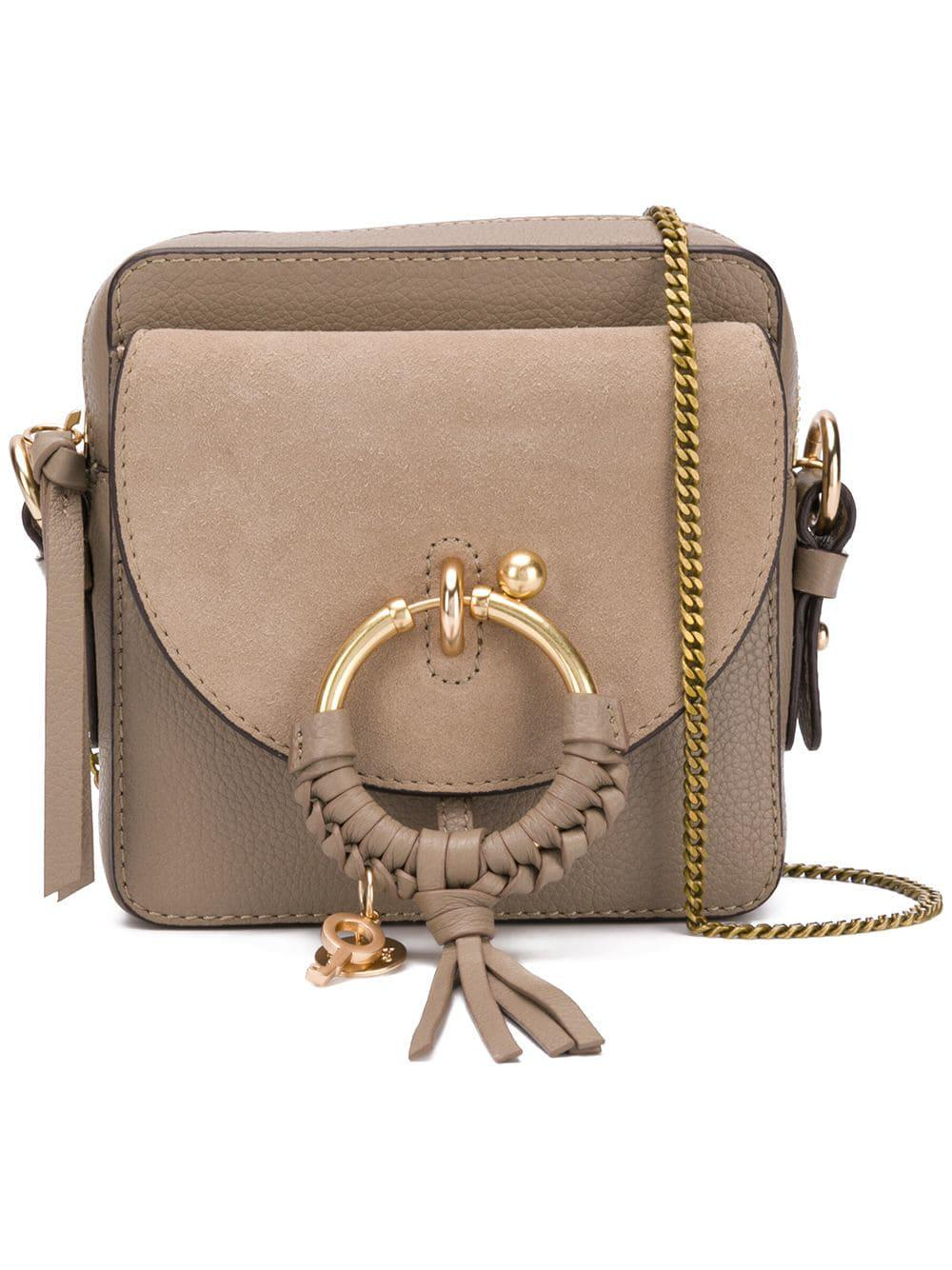 99c07d2a See By Chloé Leather Shoulder Bag in Gray - Lyst