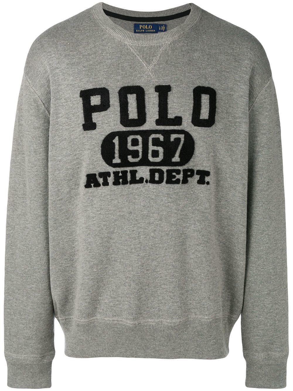 b138ec926d2b Lyst - Polo Ralph Lauren Polo 1967 Print Sweatshirt in Gray for Men