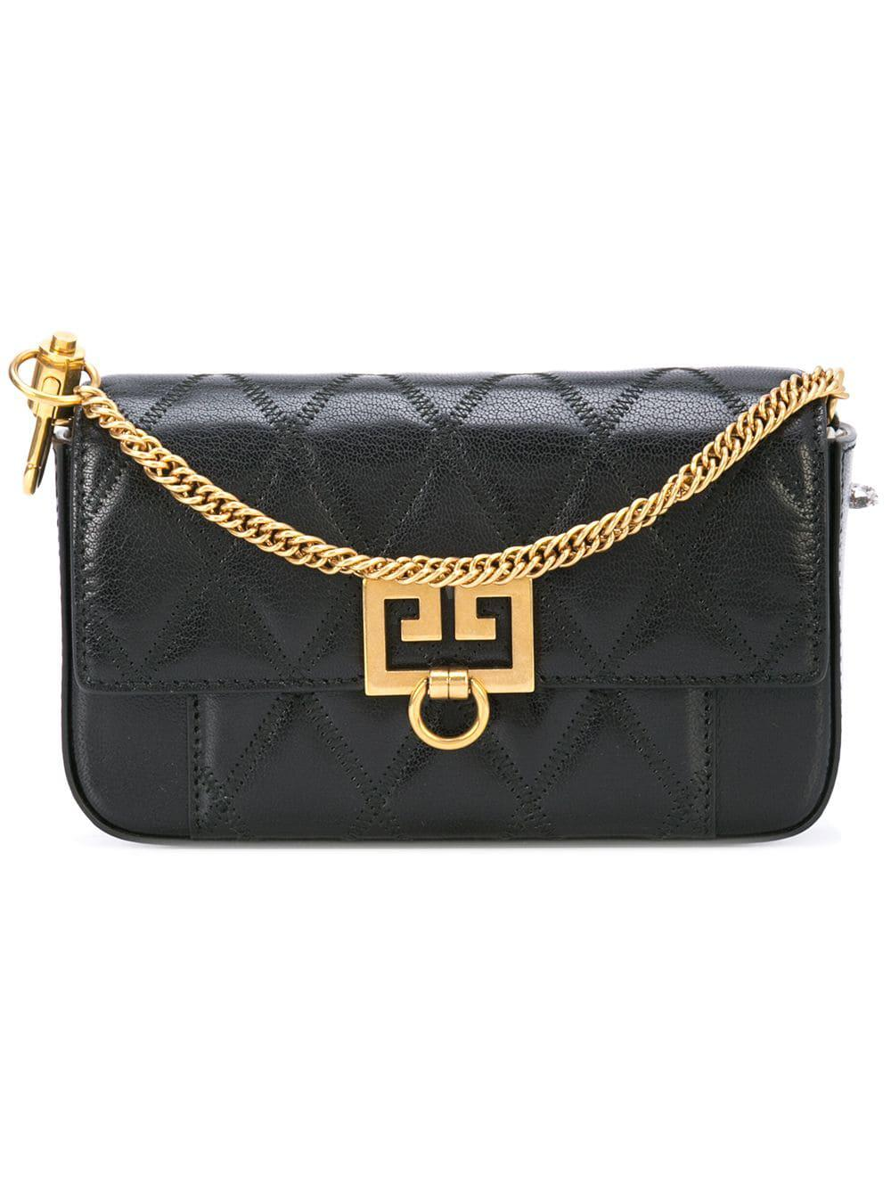 a2647e0d020a Lyst - Givenchy Pocket Mini Leather Beltbag in Black