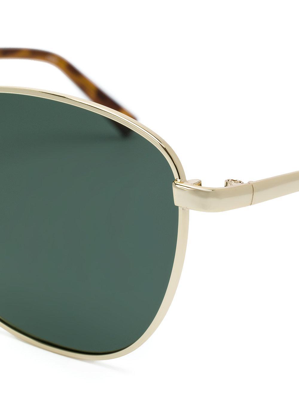 Le Specs Sunglasseses With Khaki Mono Polarized Lens in Metallic - Lyst 022c57bdbbd1d