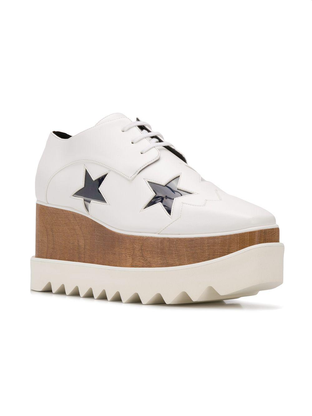 4479f85580a9 Lyst - Stella McCartney Elyse Star Sneakers in White