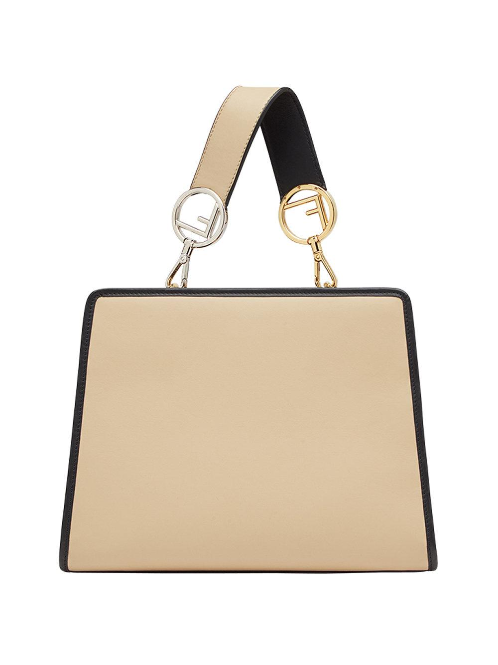 d200aaed052a Fendi Runaway Small Leather Shoulder Bag in Natural - Lyst