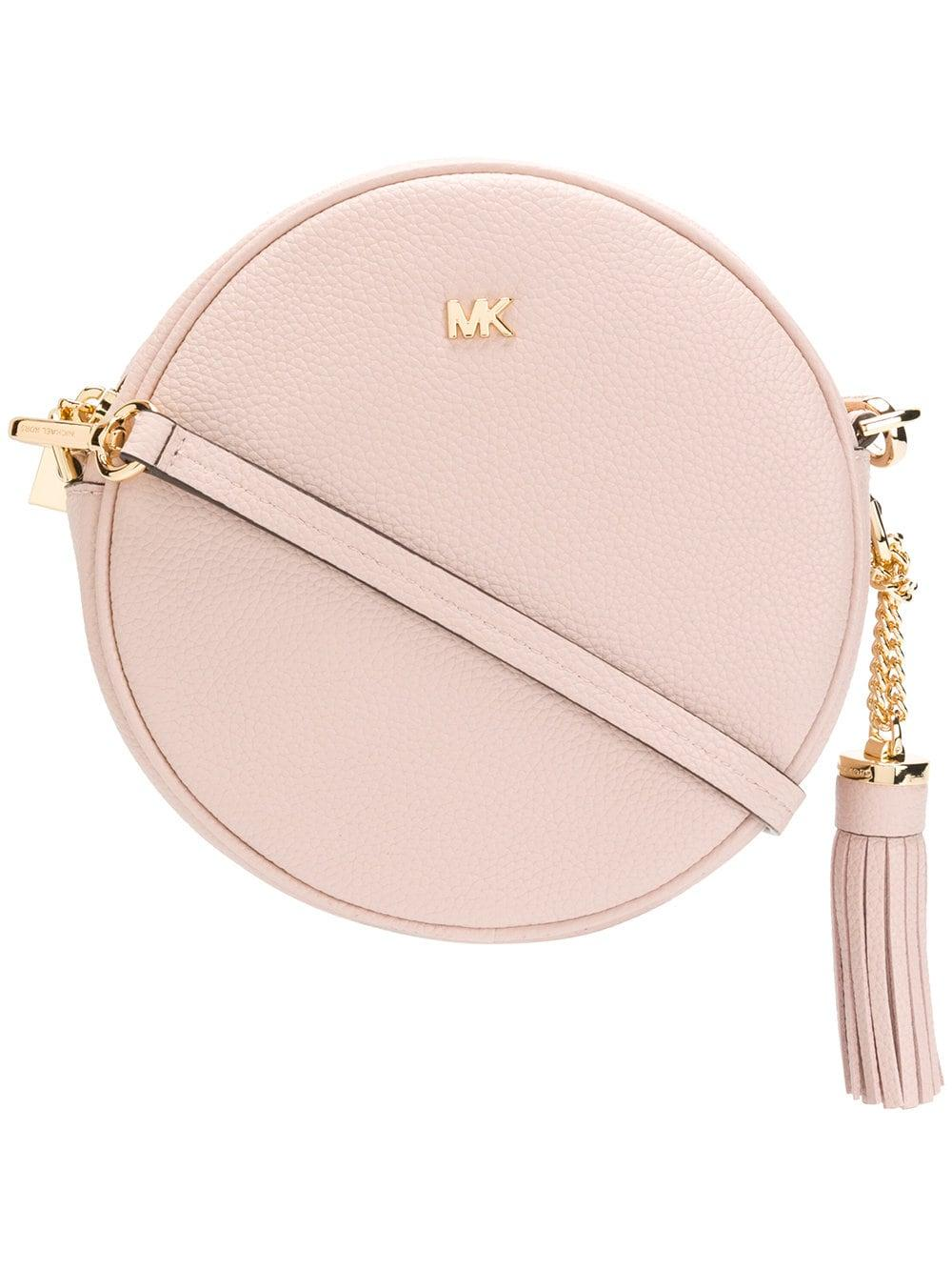 5d2ffbff58c601 MICHAEL Michael Kors Leather Canteen Bag in Pink - Save 51% - Lyst