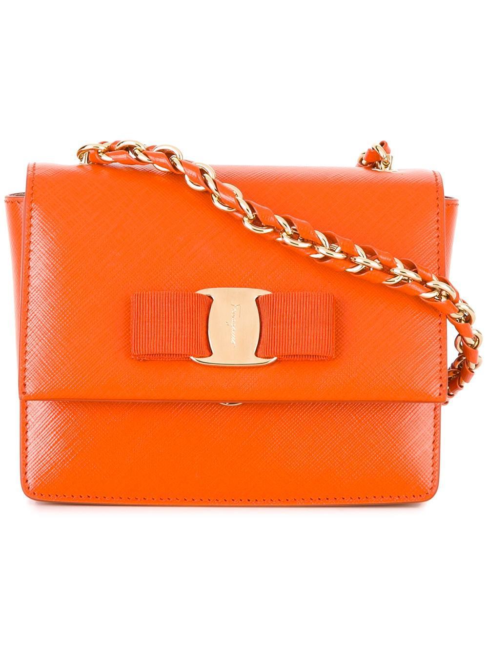 bcdcc5fe7d04 Lyst - Ferragamo  ginny  Crossbody Bag in Orange