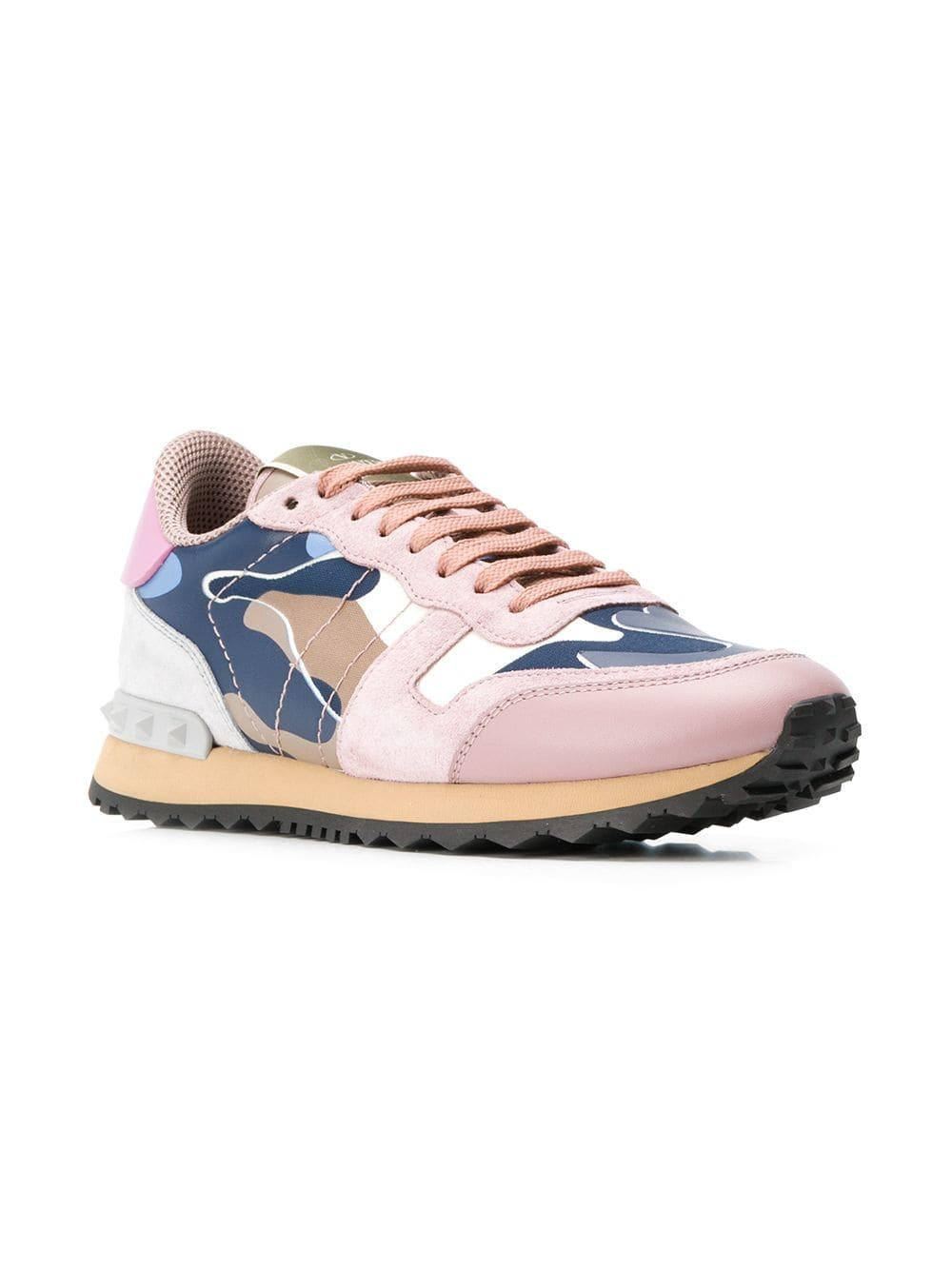 80c70aac5aff3 Valentino Rockrunner Sneakers in White - Lyst