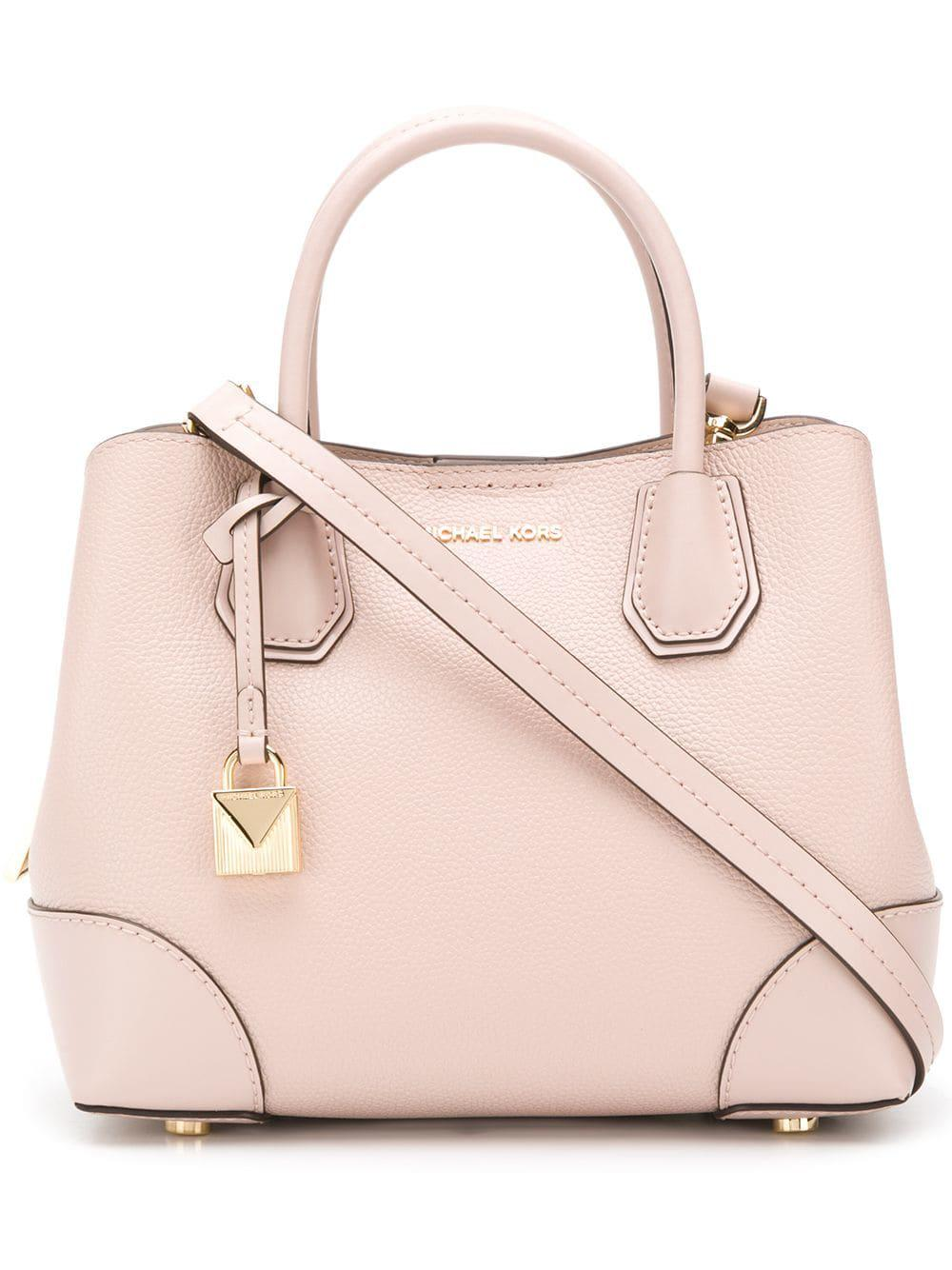 4b736984d094d4 MICHAEL Michael Kors. Women's Pink Mercer Gallery Leather Shoulder Bag