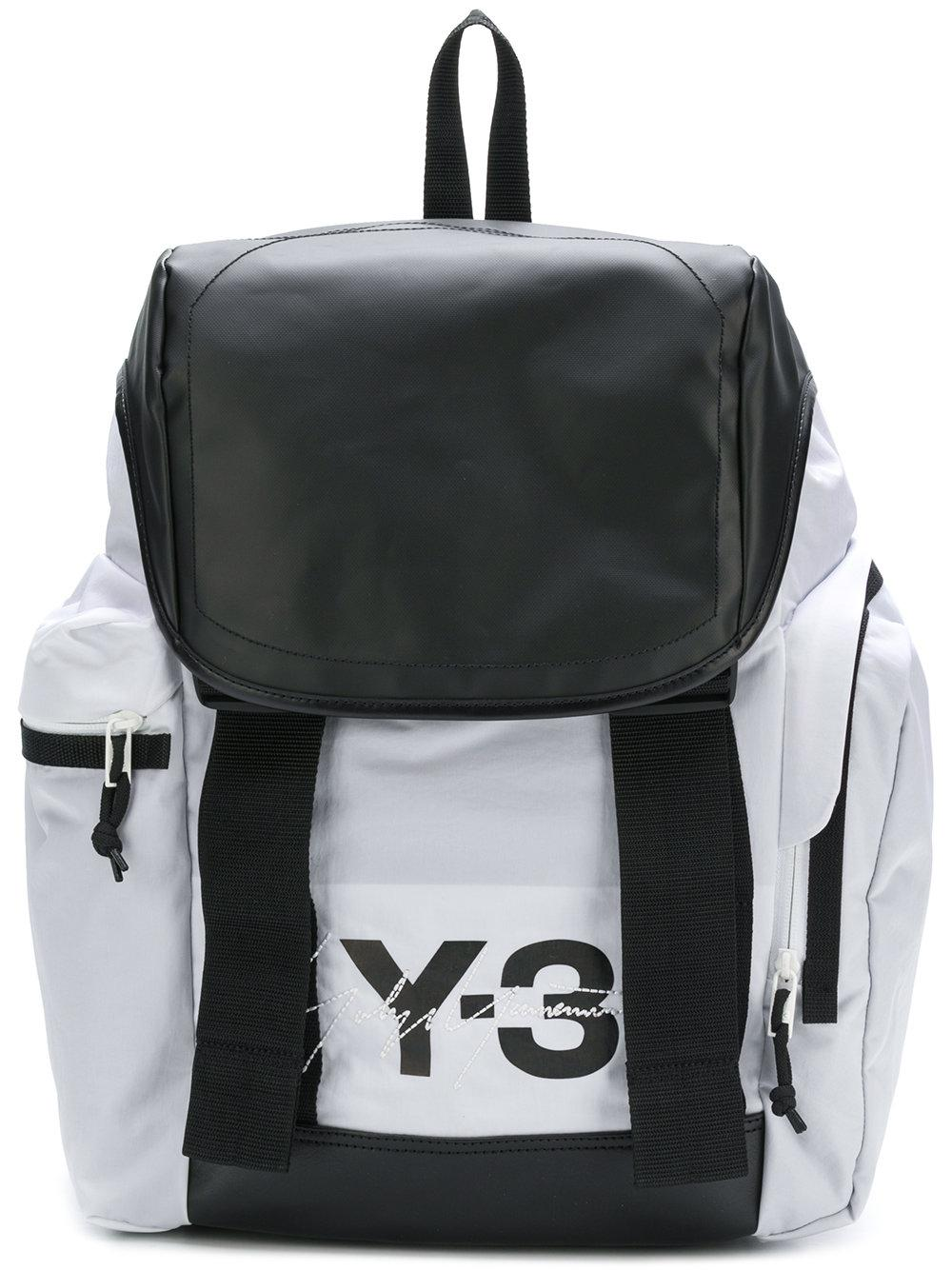 6e612d7ccb6a Lyst - Y-3 Logo Print Backpack in White for Men
