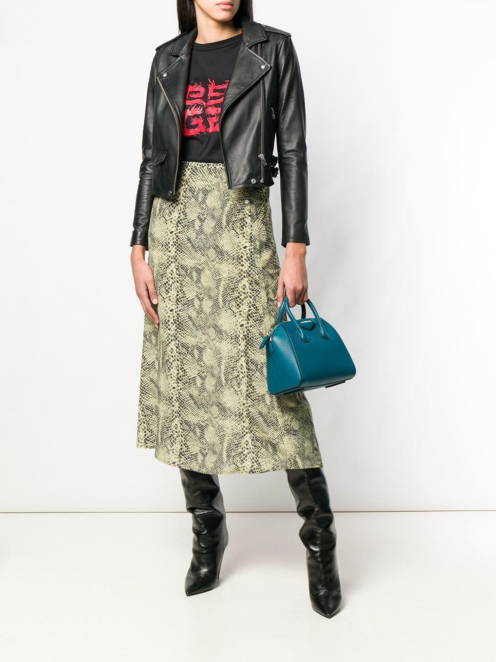 bd0bb14c8d Lyst - Givenchy Antigona Mini Leather Bag in Green