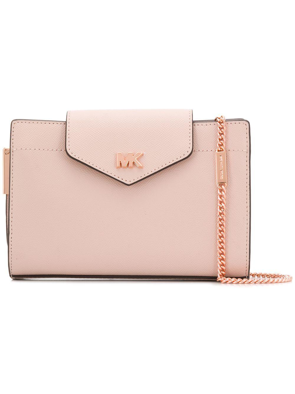 ee6a12f92c4c Lyst - MICHAEL Michael Kors Leather Crossbody Bag in Pink - Save 37%