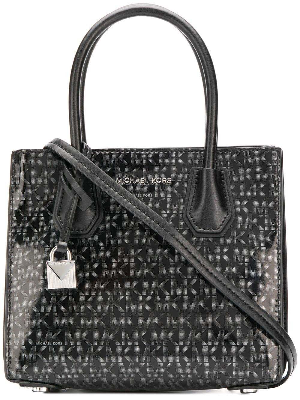 c7b9745c6f4d Lyst - MICHAEL Michael Kors Mercer Leather Tote Bag in Black - Save 11%