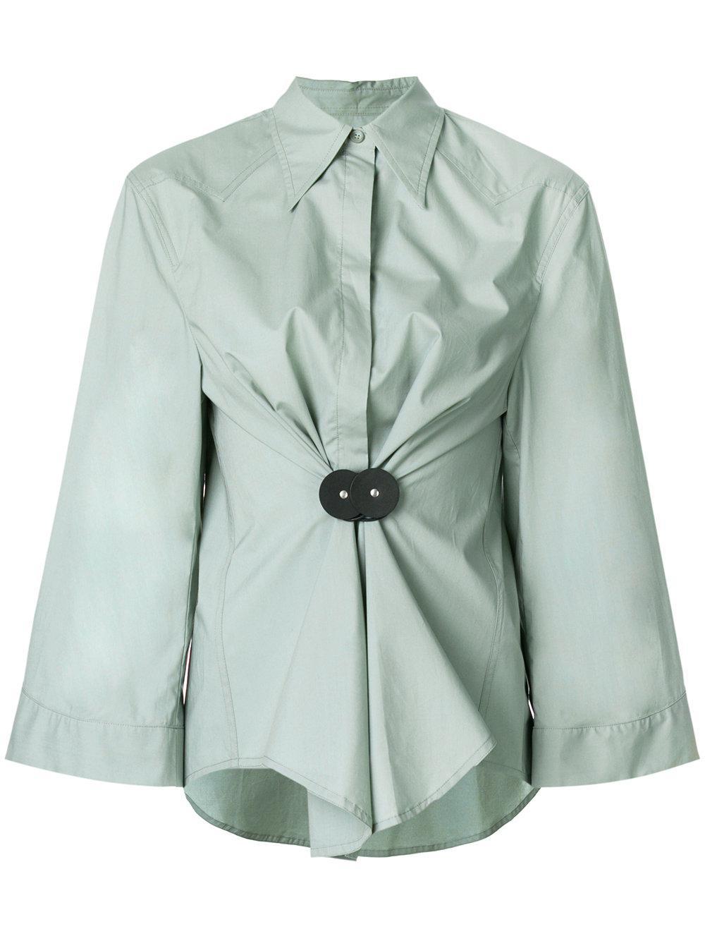 ruched waist shirt - Green Maison Martin Margiela Clearance 3BuJq8R