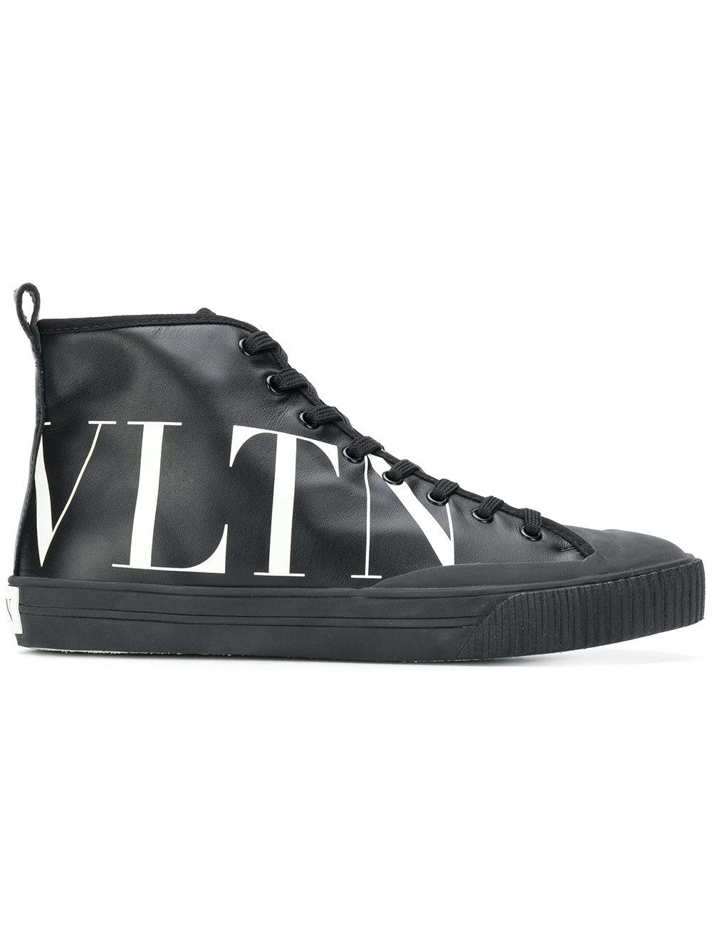 ValentinoHigh-top Sneaker With Vltn Logo