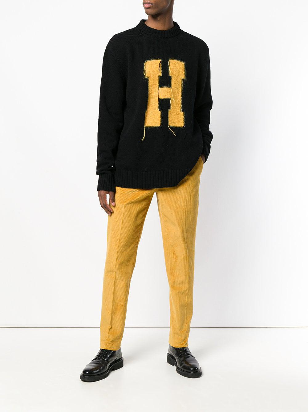 Tommy Hilfiger Sweater With H Letter In Black For Men Save