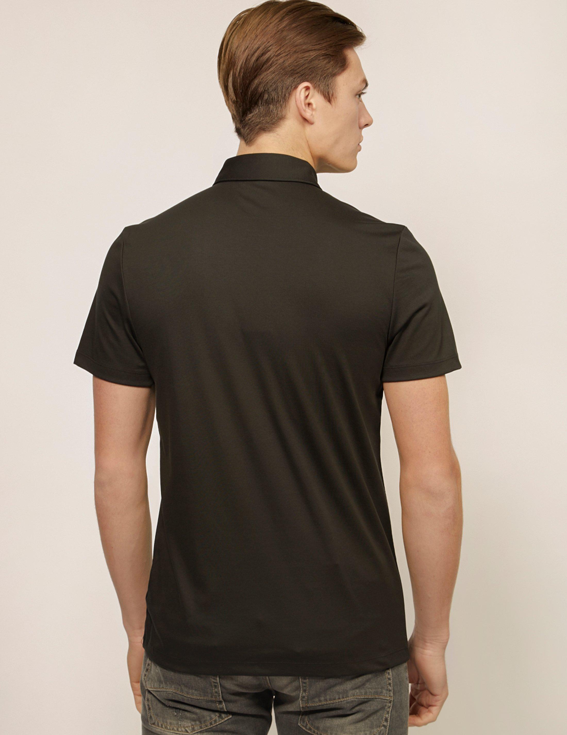 fa5a1fcb Lyst - Michael Kors Mens Sleek Short Sleeve Polo Shirt Black in Black for  Men