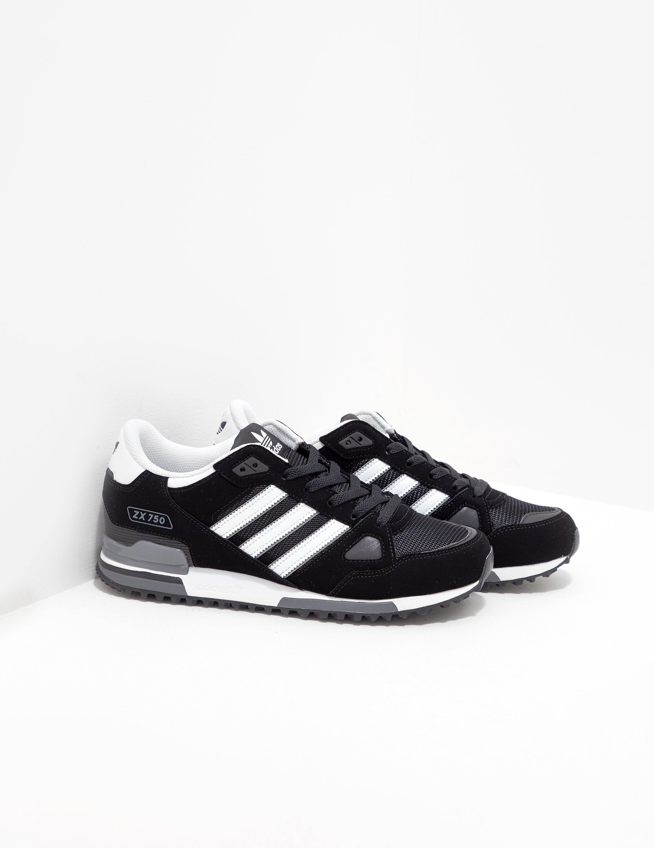 free shipping f38d0 dff60 Adidas Originals Mens Zx 750 - Exclusively To Tessuti Black in Black ...