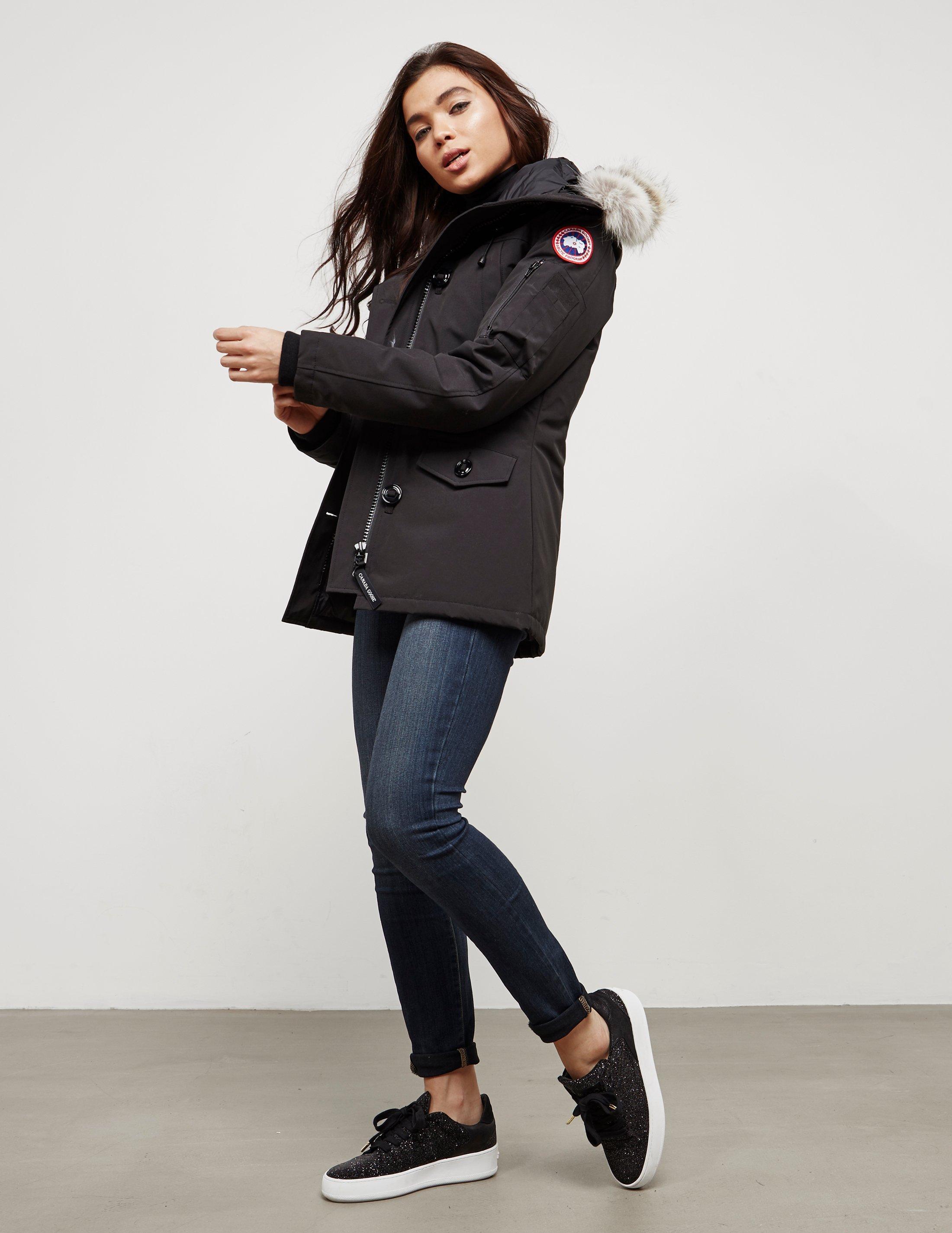 Canada Goose - Womens Montebello Padded Parka Jacket Black - Lyst. View  fullscreen