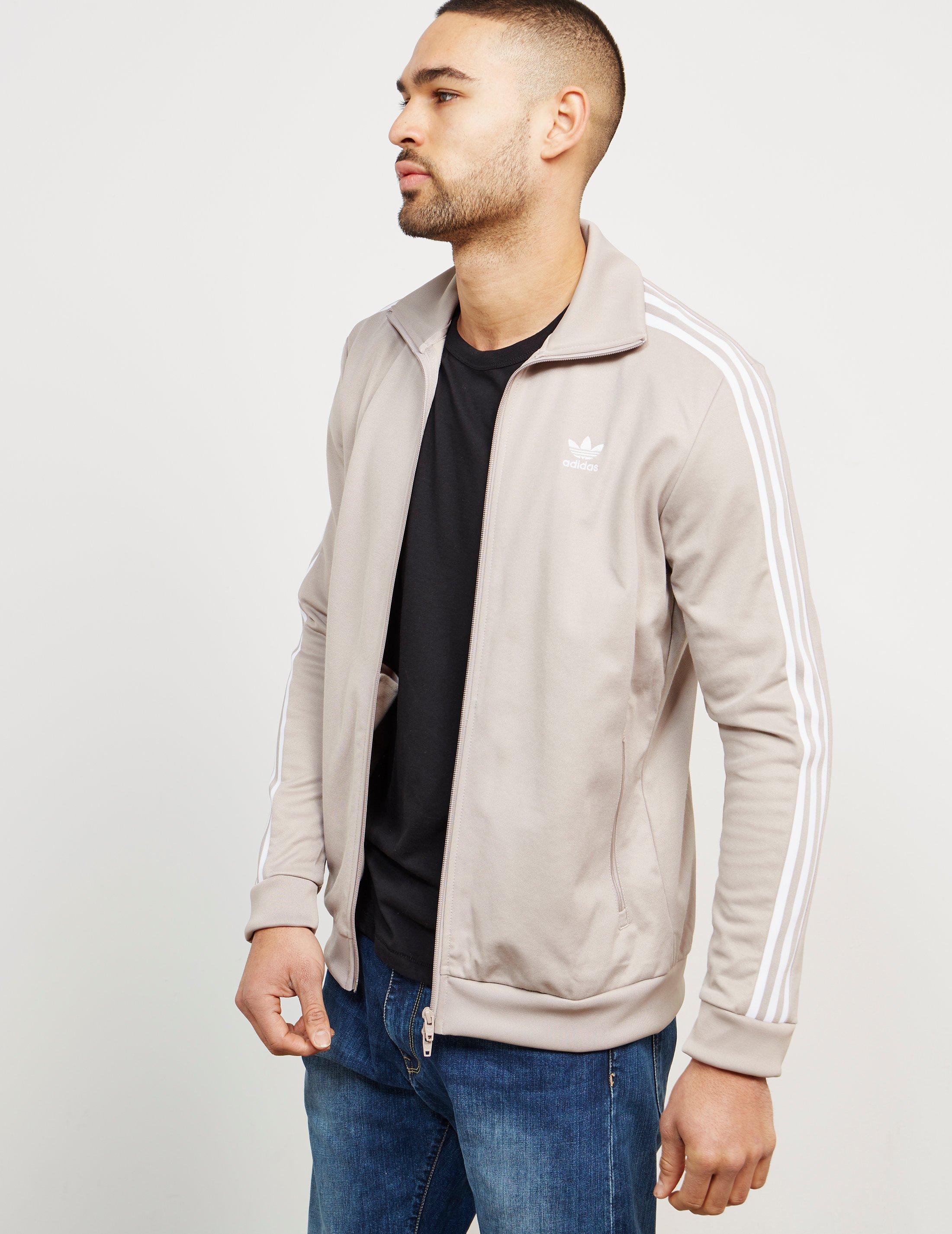 f96cbc93aba adidas Originals Mens Beckenbauer Full Zip Track Top Grey in Gray ...