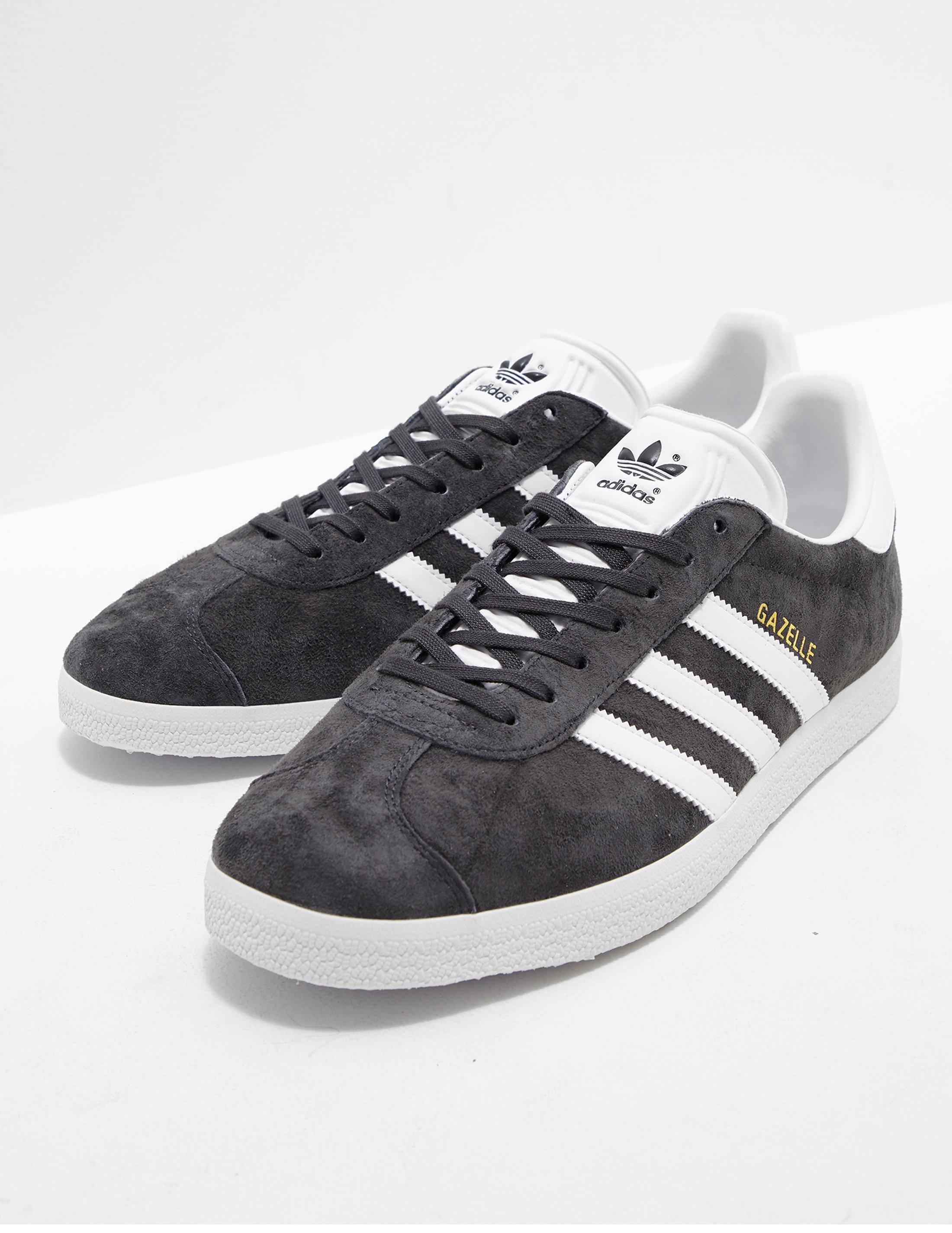 Adidas Originals Gazelle sólido para hombre gris / blanco en gris para hombres Lyst