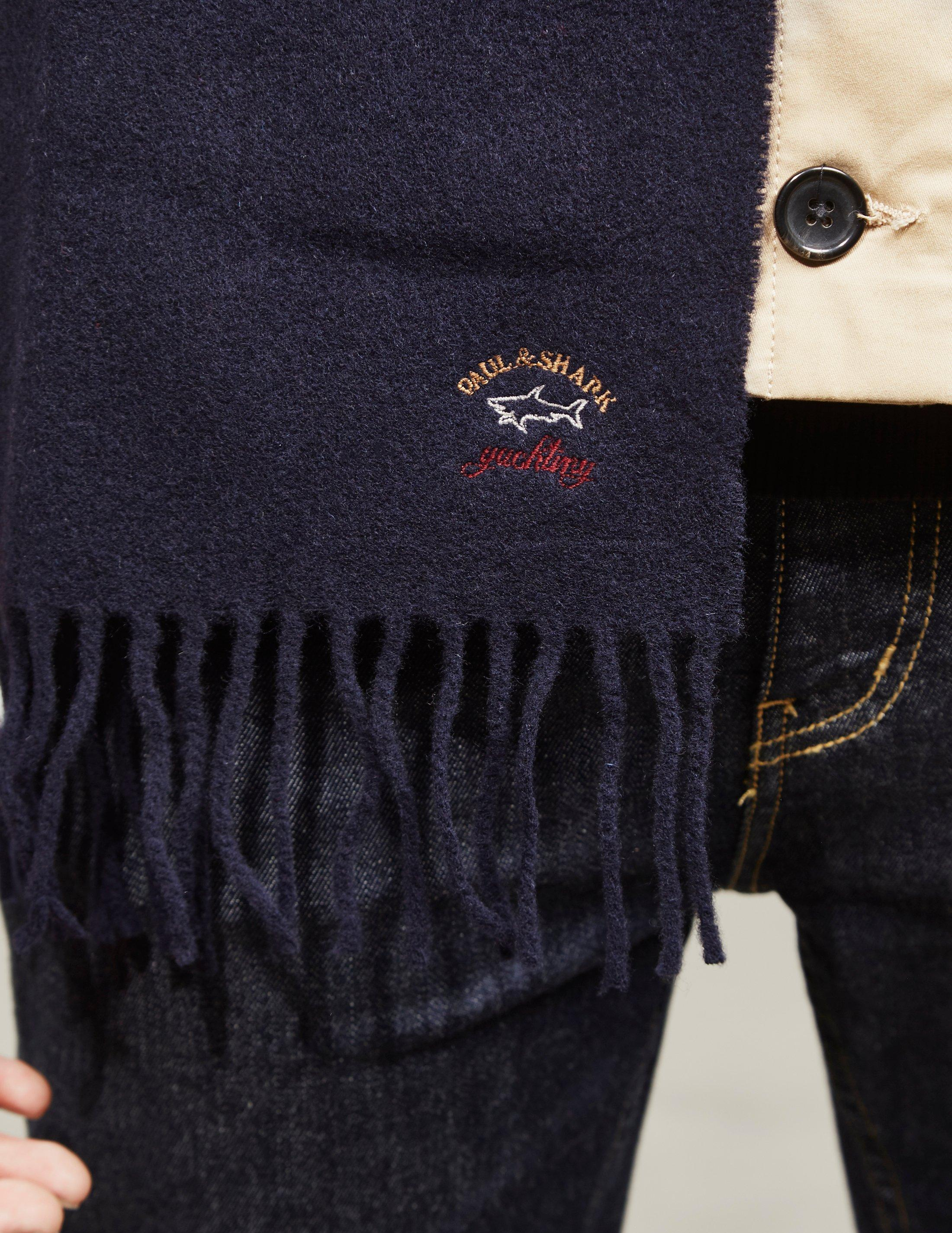 486accdf3f7f5 Paul & Shark Ribbed Scarf Navy Blue in Blue for Men - Save 36% - Lyst