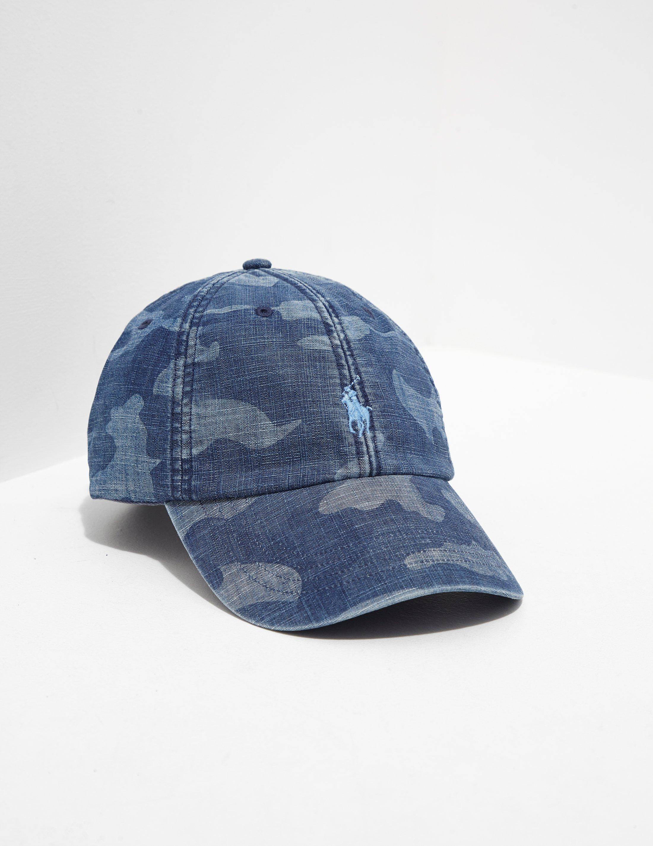 Polo Ralph Lauren Mens Camo Cap - Online Exclusive Blue in Blue for ... 719a2269f24