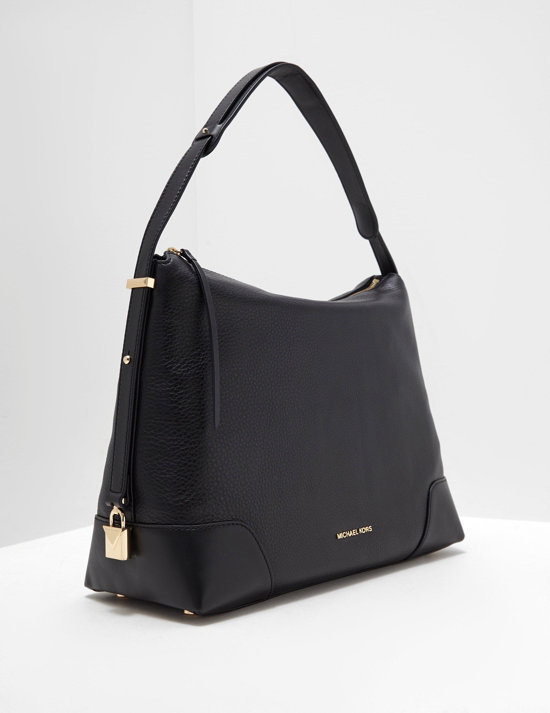 b967bbae7e1b47 Lyst - Michael Kors Womens Large Leather Shoulder Bag Black in Black