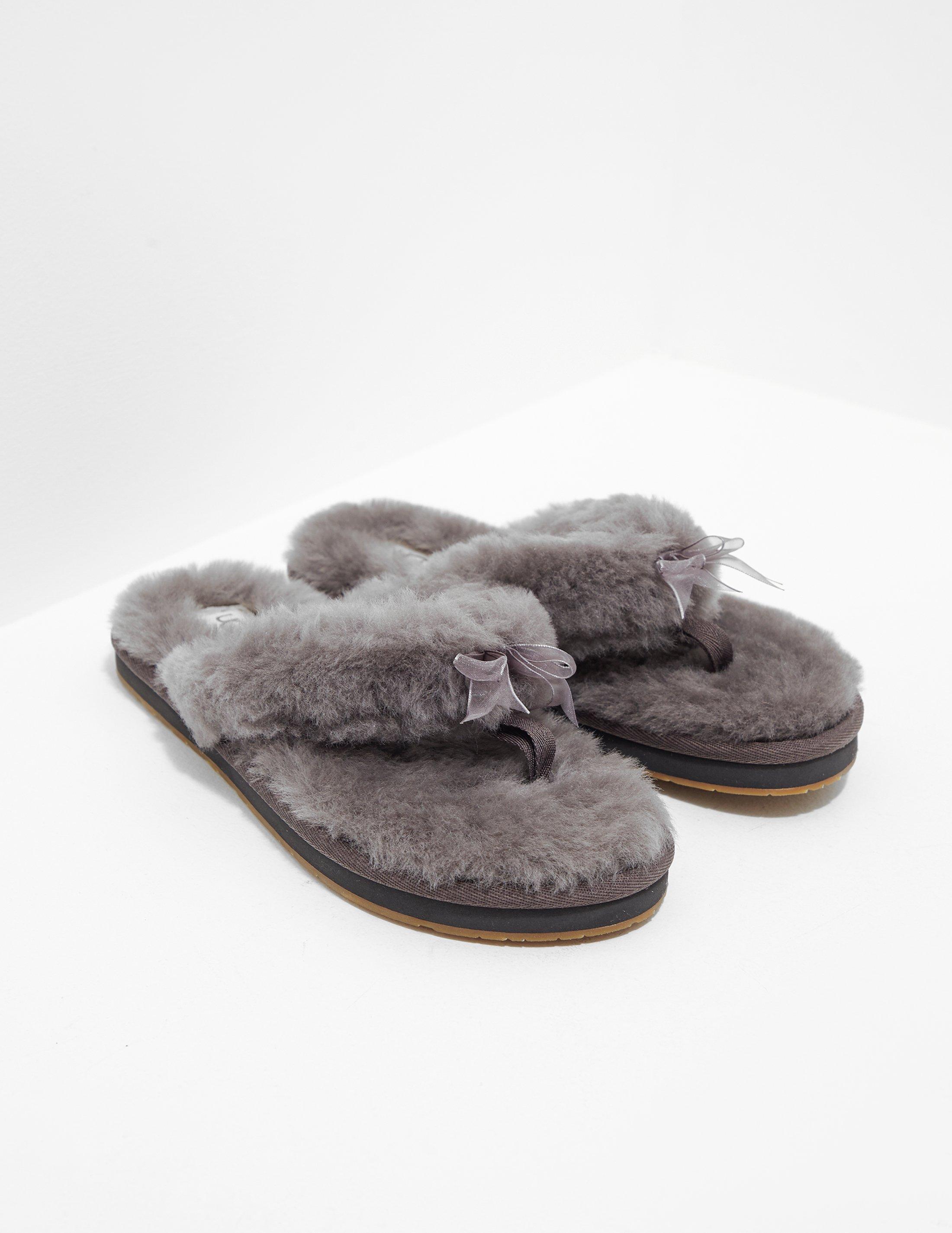 babc4816681 Lyst - UGG Womens Fluffy Flip Flops Grey in Gray