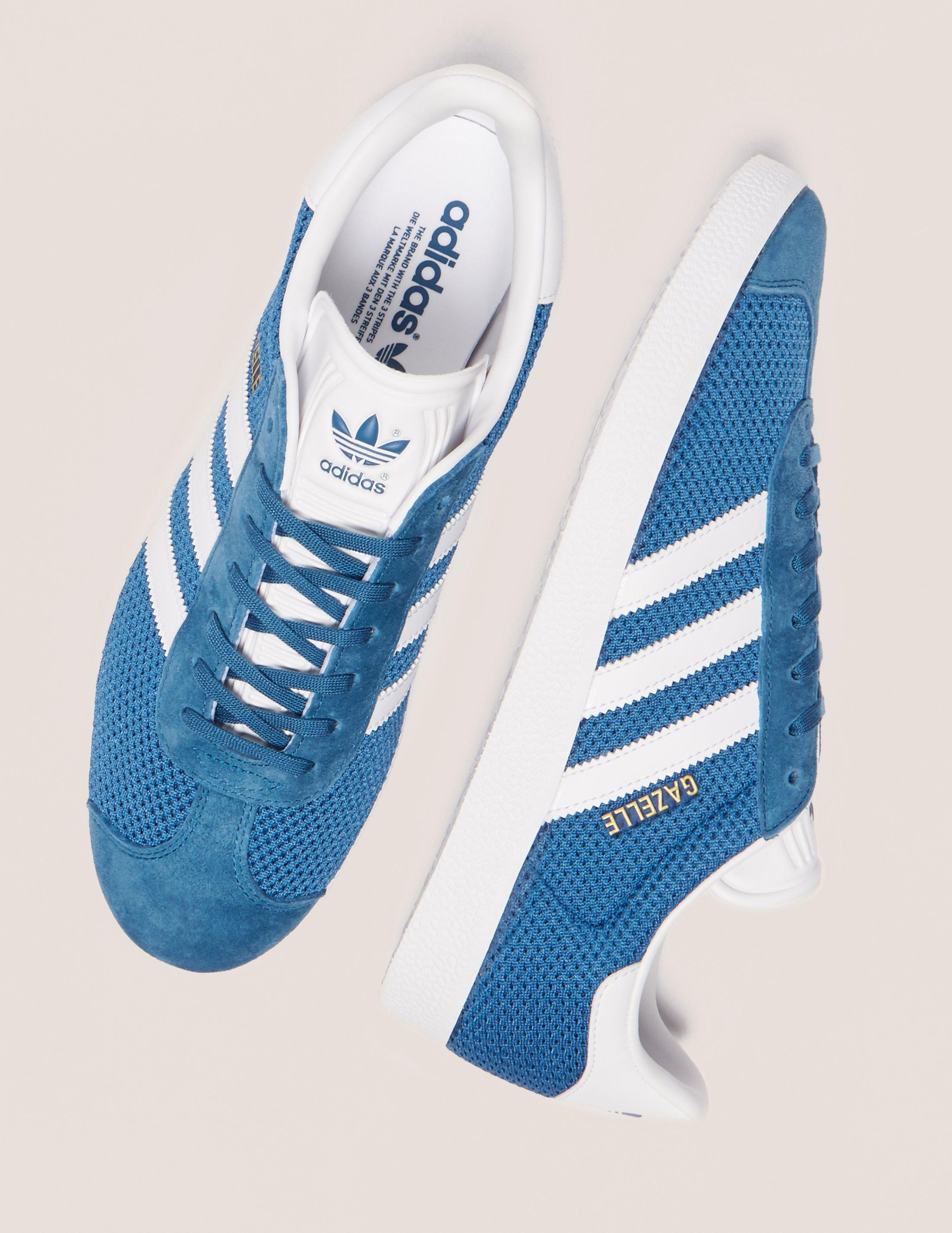 lyst adidas originali mens gazzella nucleo maglie blu, blu, blu