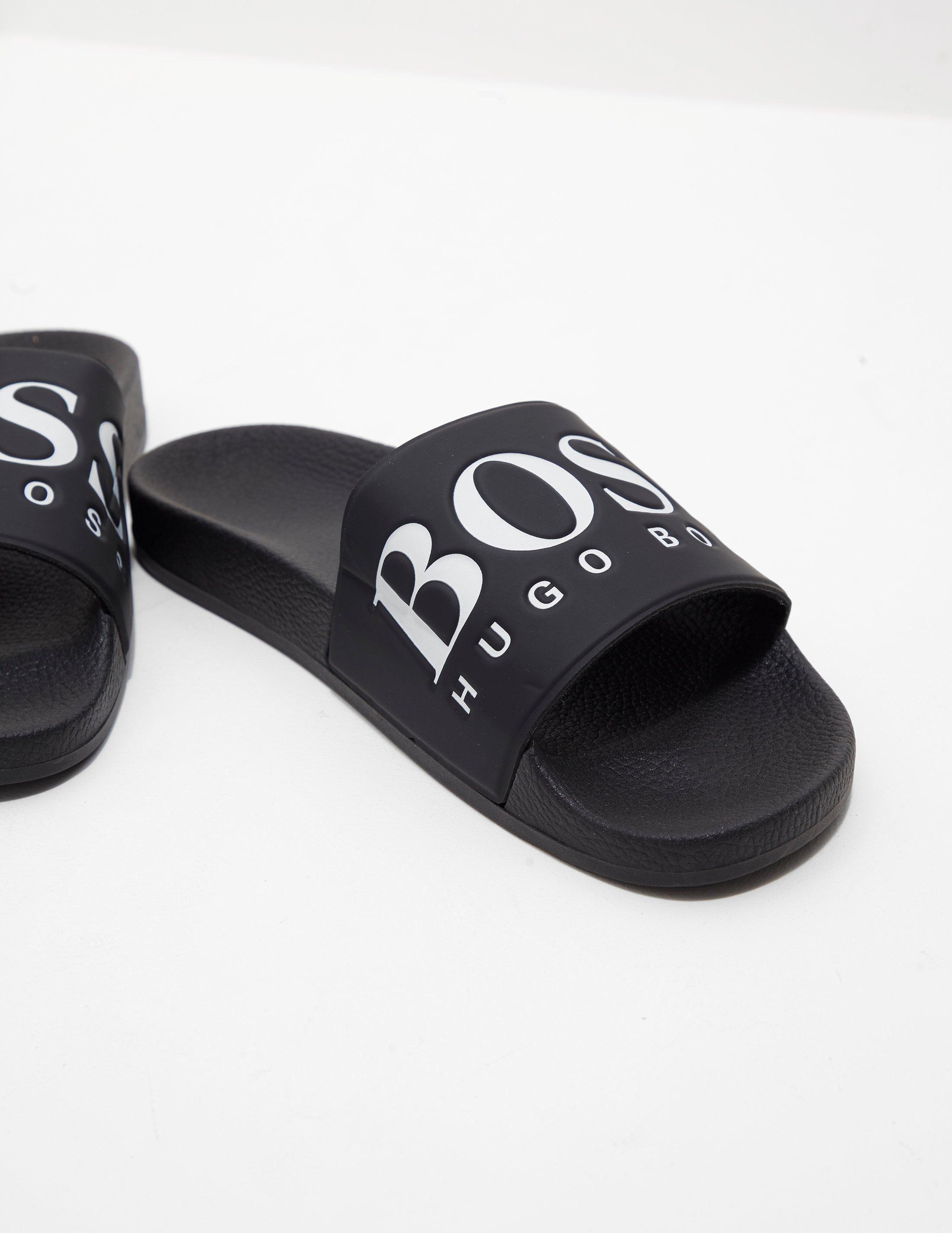 eea69867c0673e Lyst - BOSS Mens Solar Slides - Exclusively To Tessuti Black in Black for  Men
