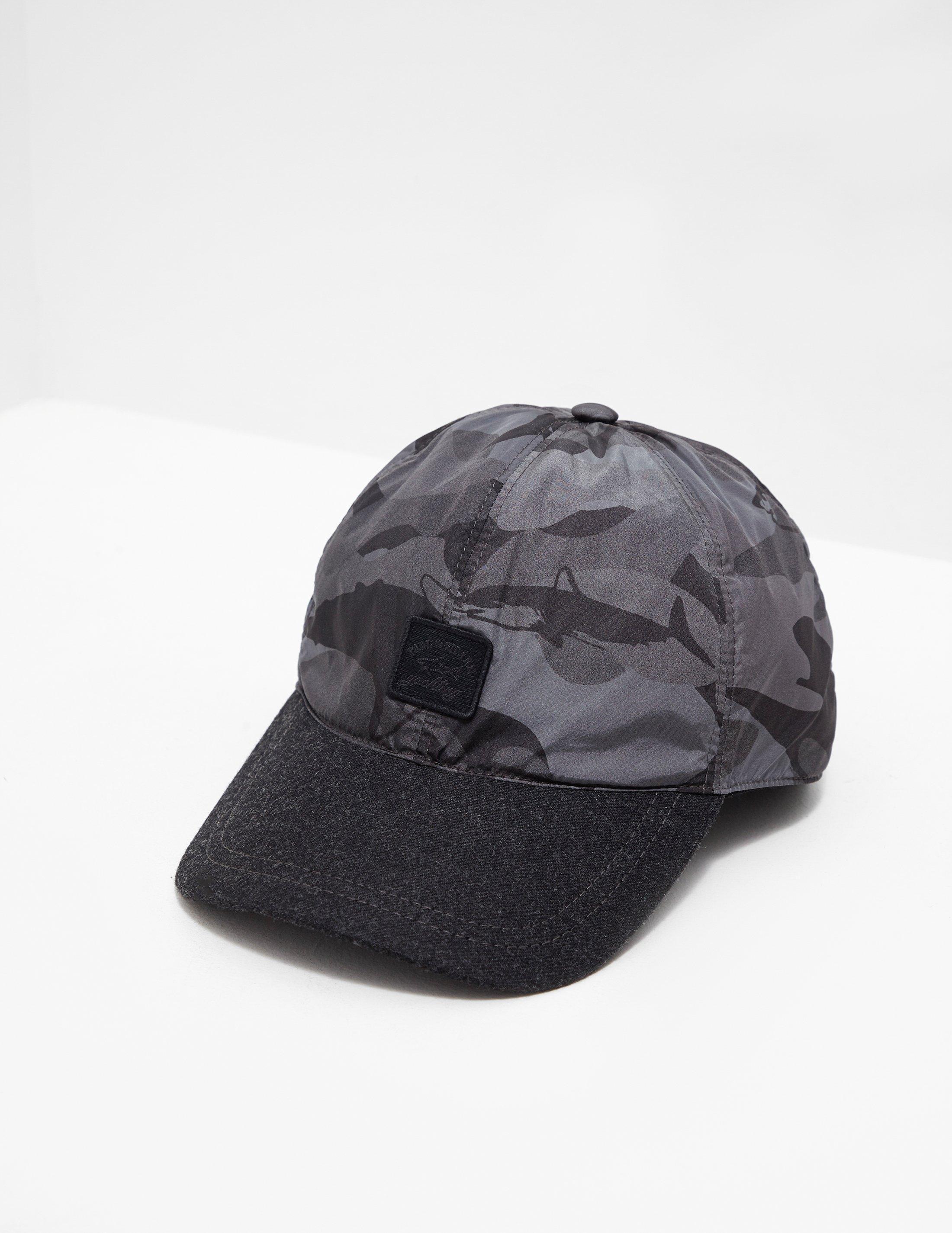 6c4059370f2 Paul And Shark Mens Sharkflage Cap Black in Black for Men - Lyst