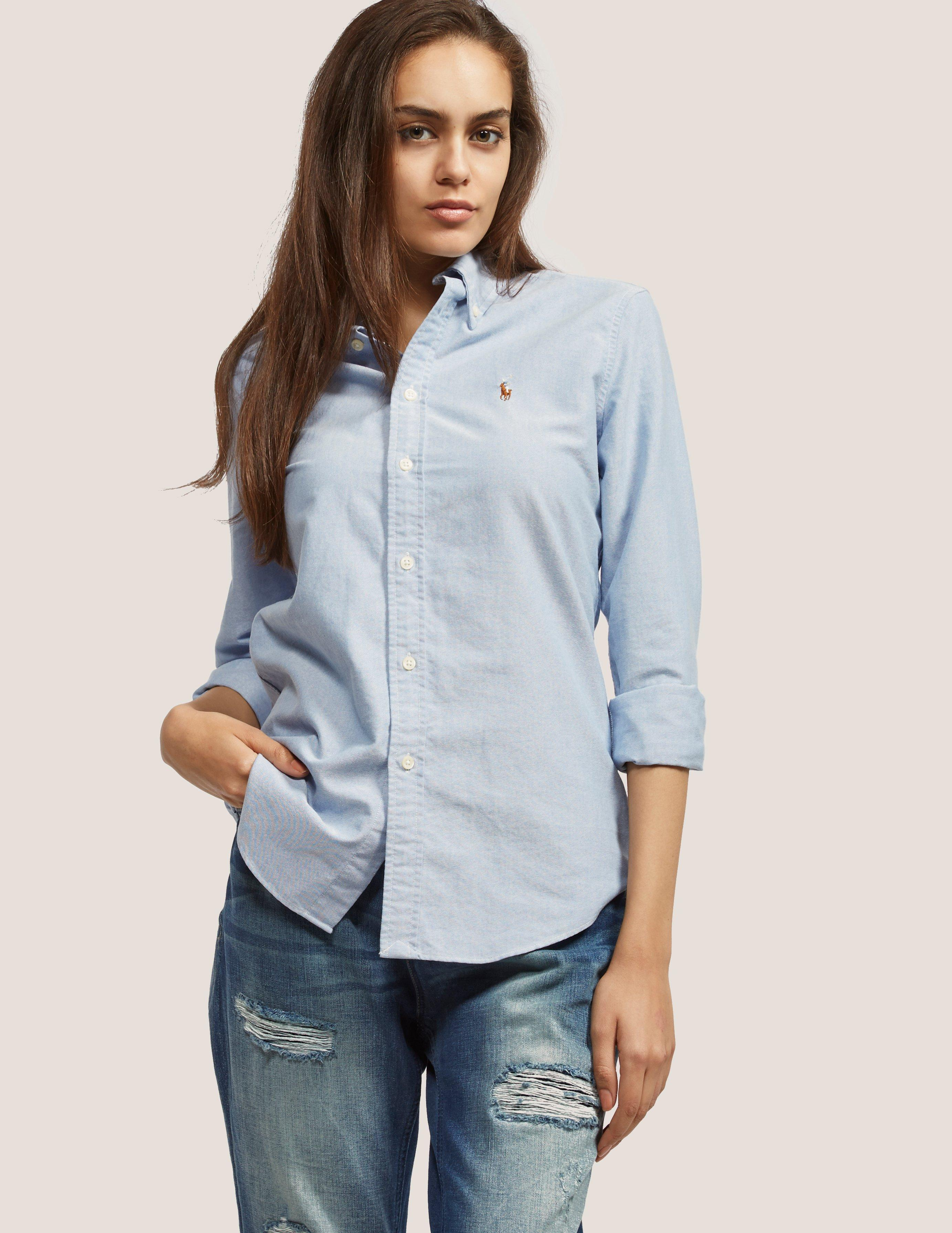 Polo Ralph Lauren Womens Harper Shirt Blue in Blue - Lyst a8567d1460d6