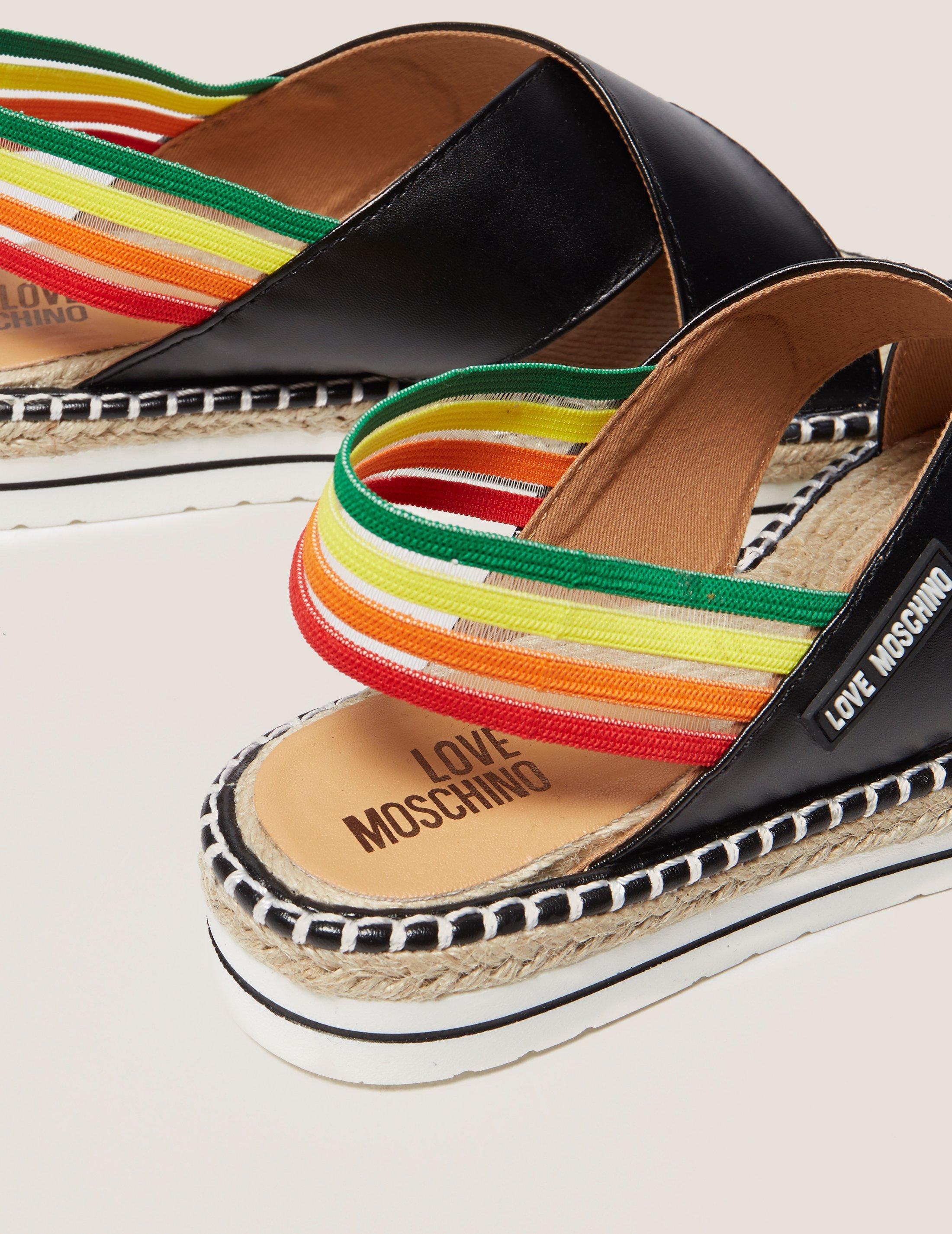 adc499b31a1a Love Moschino Rainbow Sandals in Black - Lyst