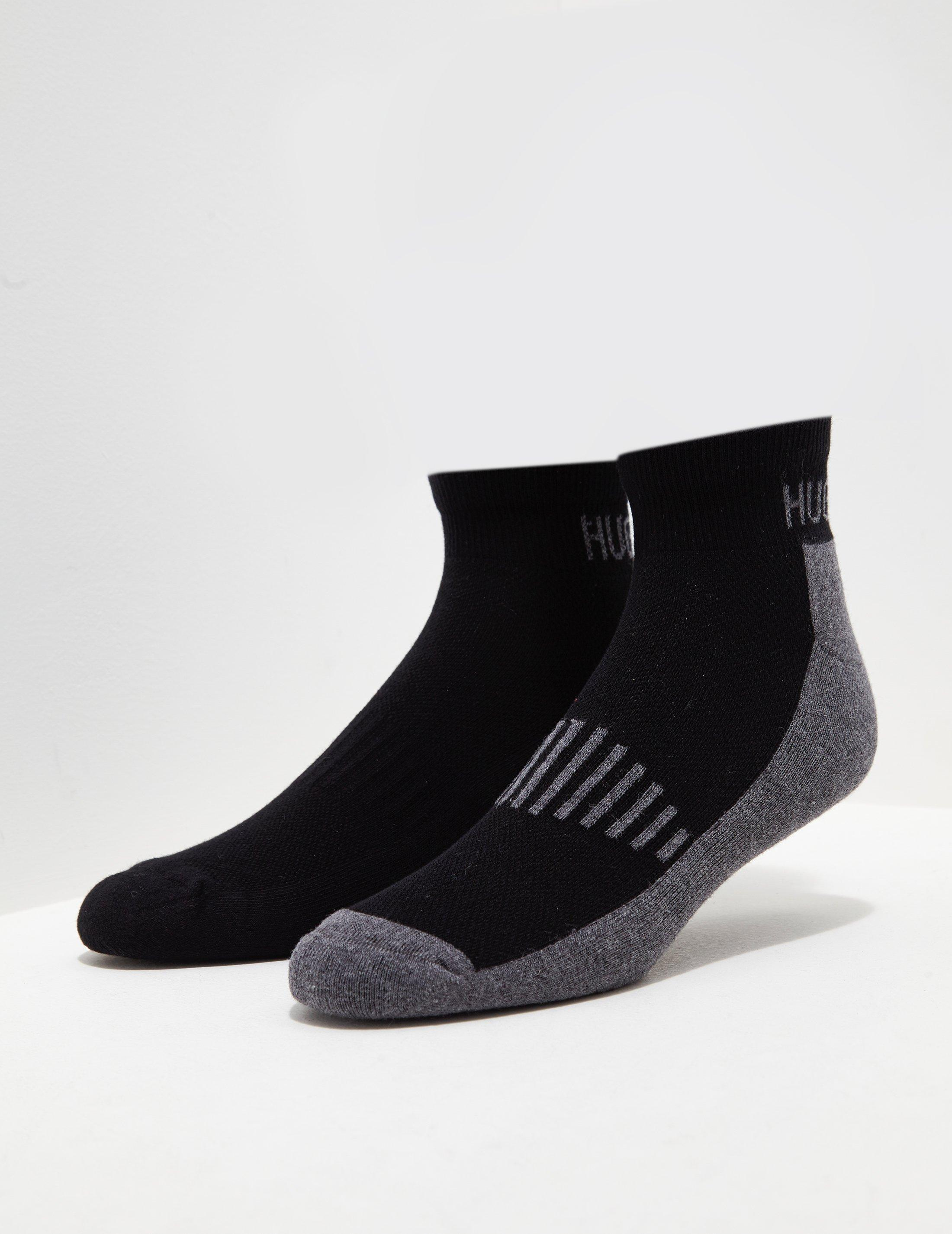 BOSS. Mens 2-pack Sport Socks Black/grey