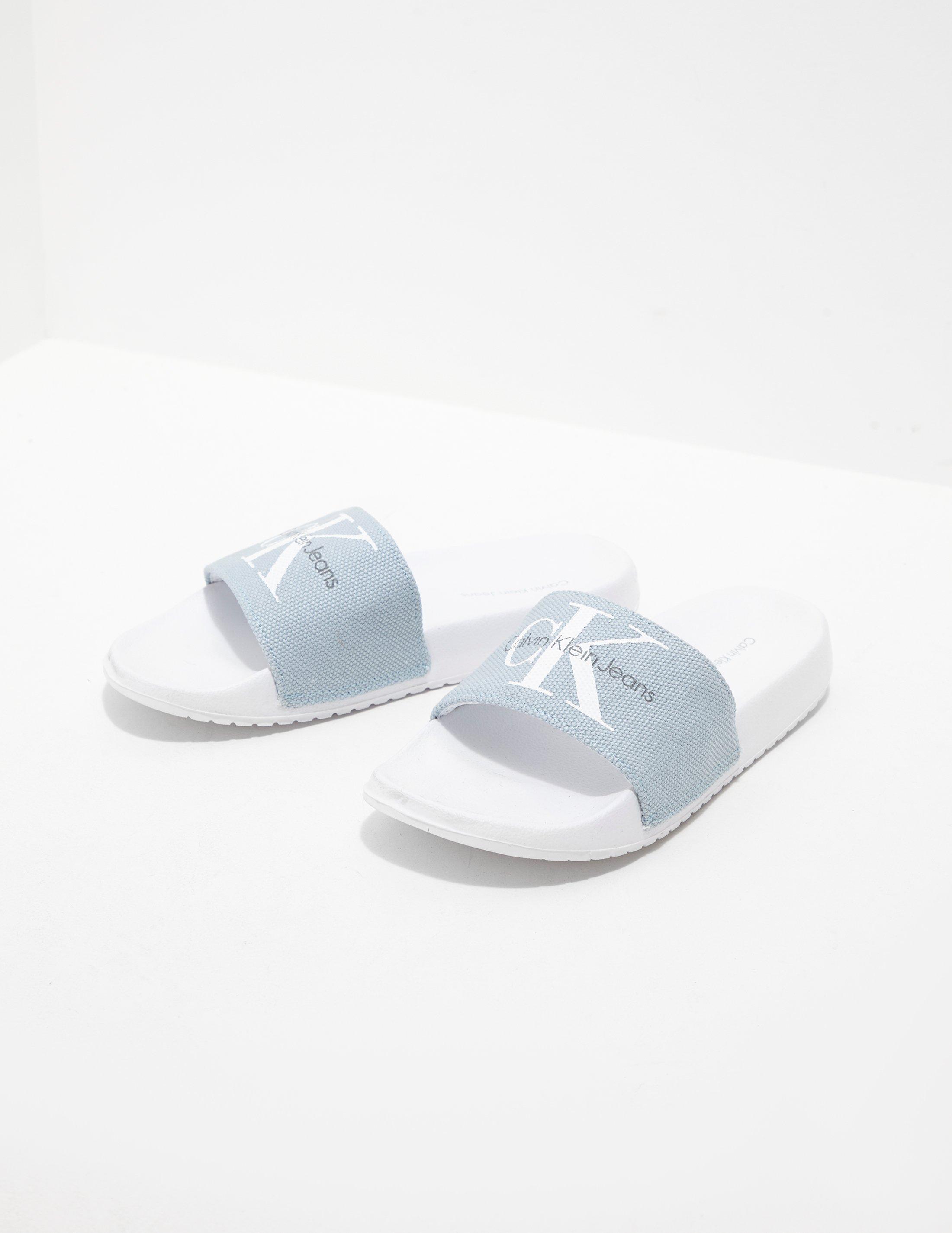 b6b464762 Calvin Klein Chantal Slides Women s White in White - Lyst
