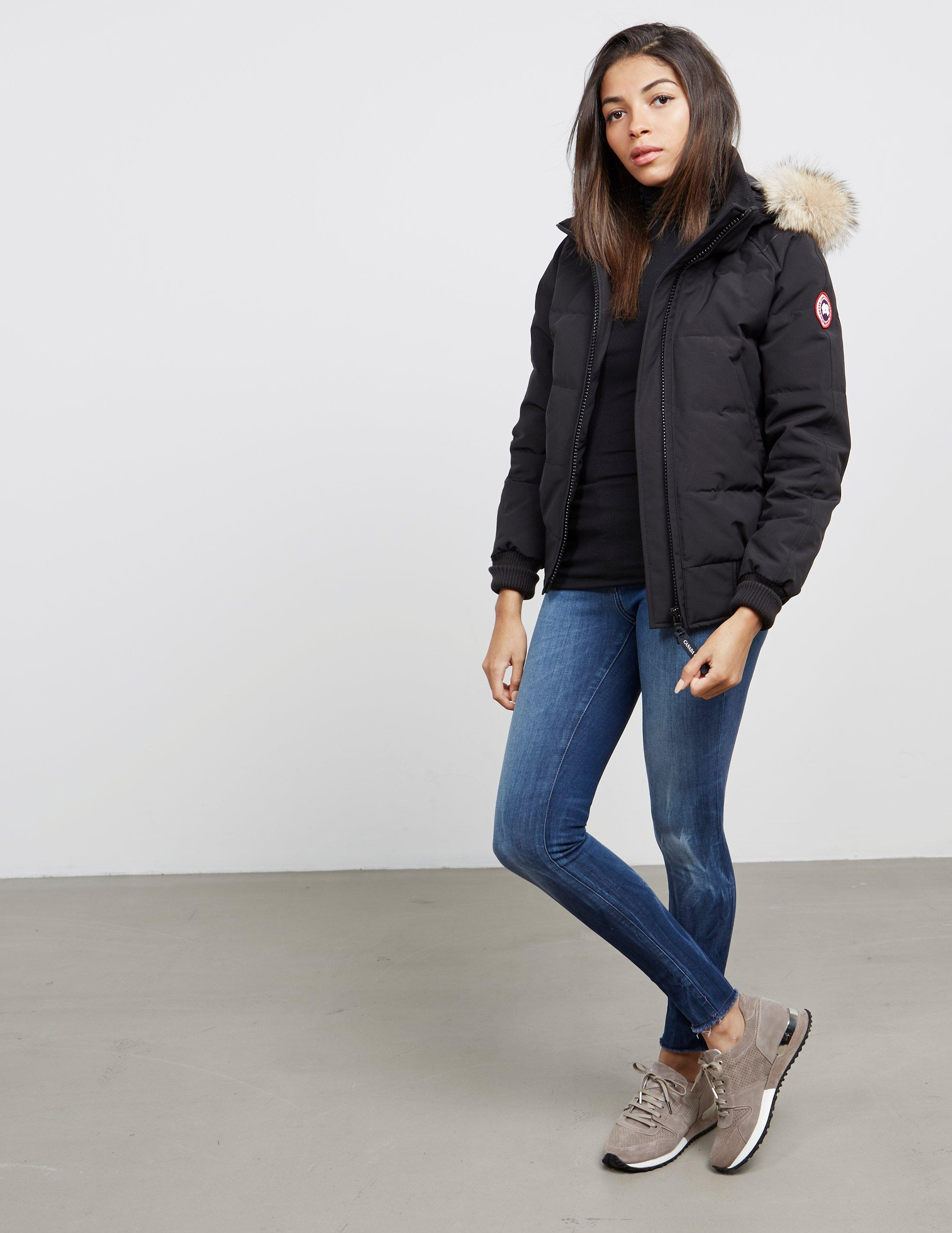 Lyst - Canada Goose Womens Savona Padded Bomber Jacket Black in Black ab419b1226
