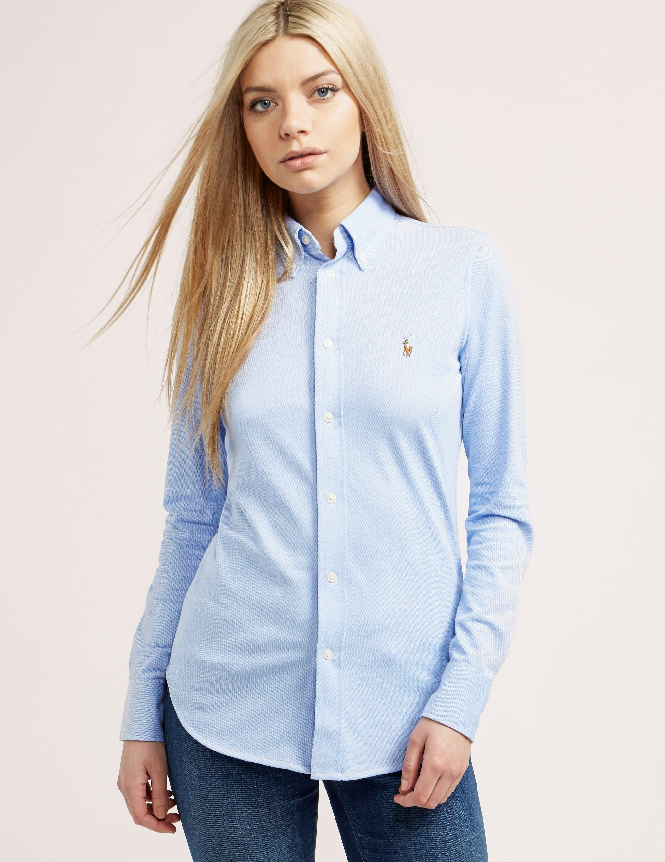 Lyst - Polo Ralph Lauren Womens Oxford Shirt Blue in Blue