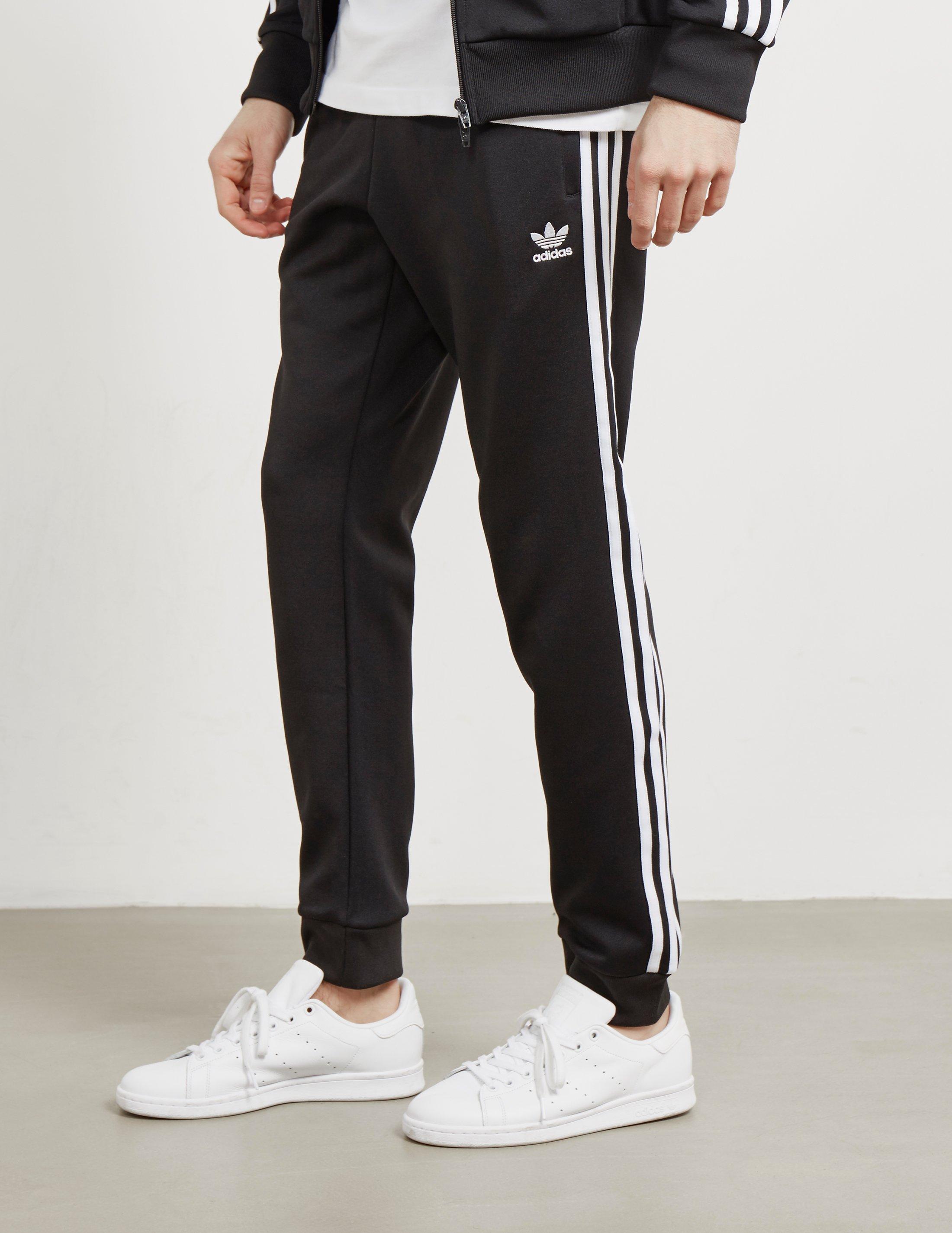 uk availability 03f3f 4075a Lyst - adidas Originals Mens Superstar Cuffed Track Pants Black in ...