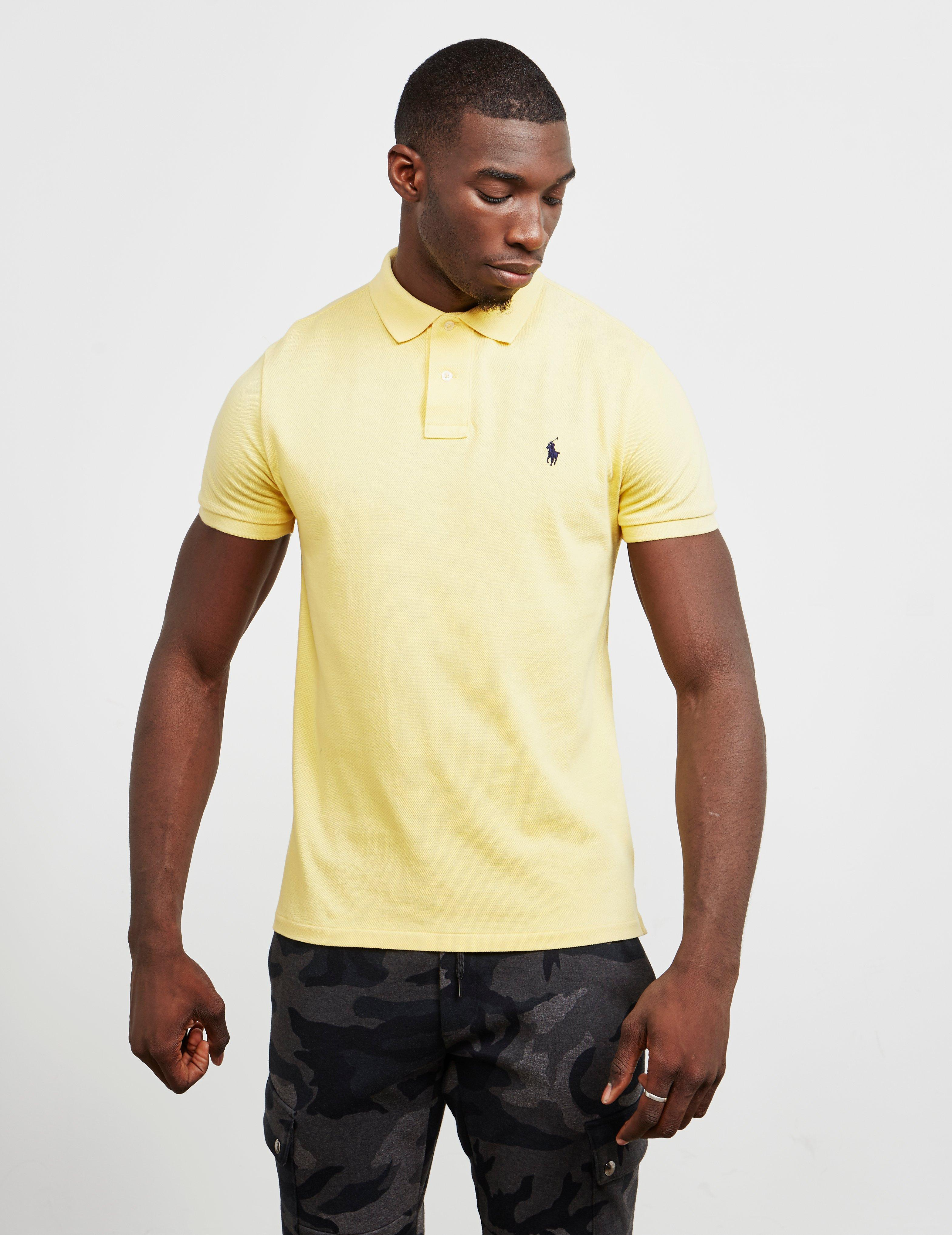 c6de4fcdddb36 Lyst - Polo Ralph Lauren Mesh Short Sleeve Polo Shirt Yellow in ...