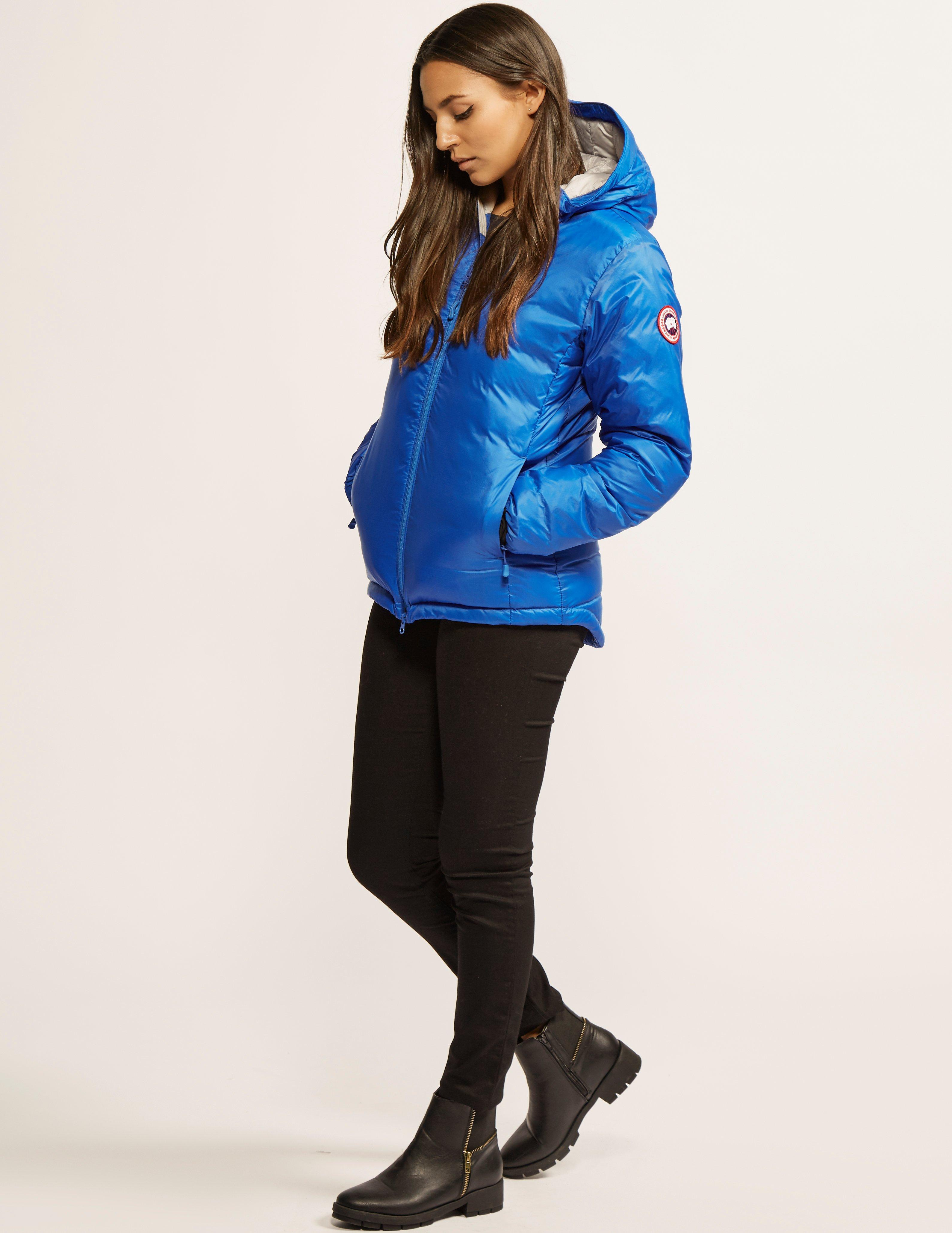 Canada Goose Womens Pbi Camp Hooded Padded Jacket Blue in Blue - Lyst 1ec76427a4