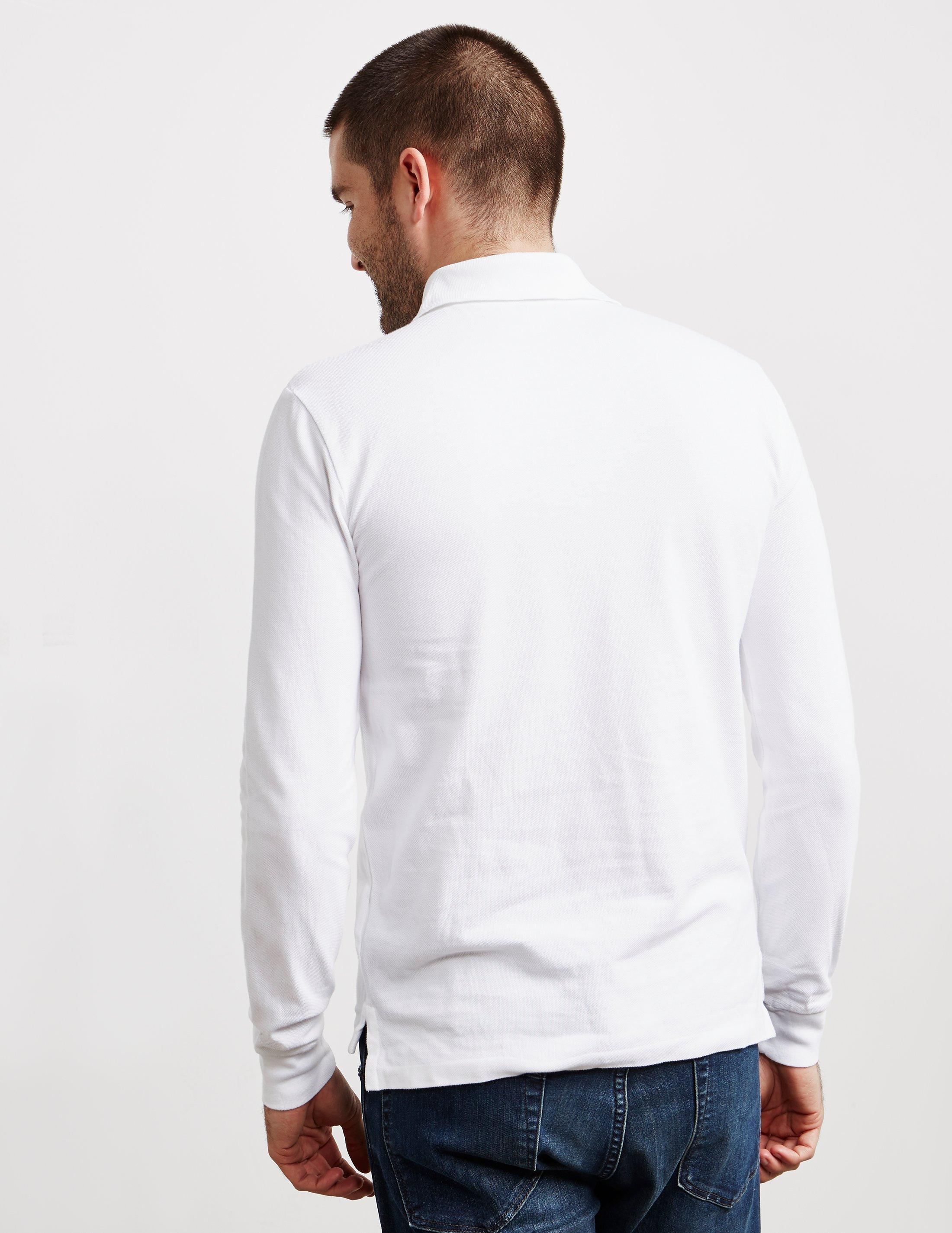6ba6338e19f7 Polo Ralph Lauren - Slim Fit Long Sleeve Polo Shirt - Online Exclusive  White for Men. View fullscreen
