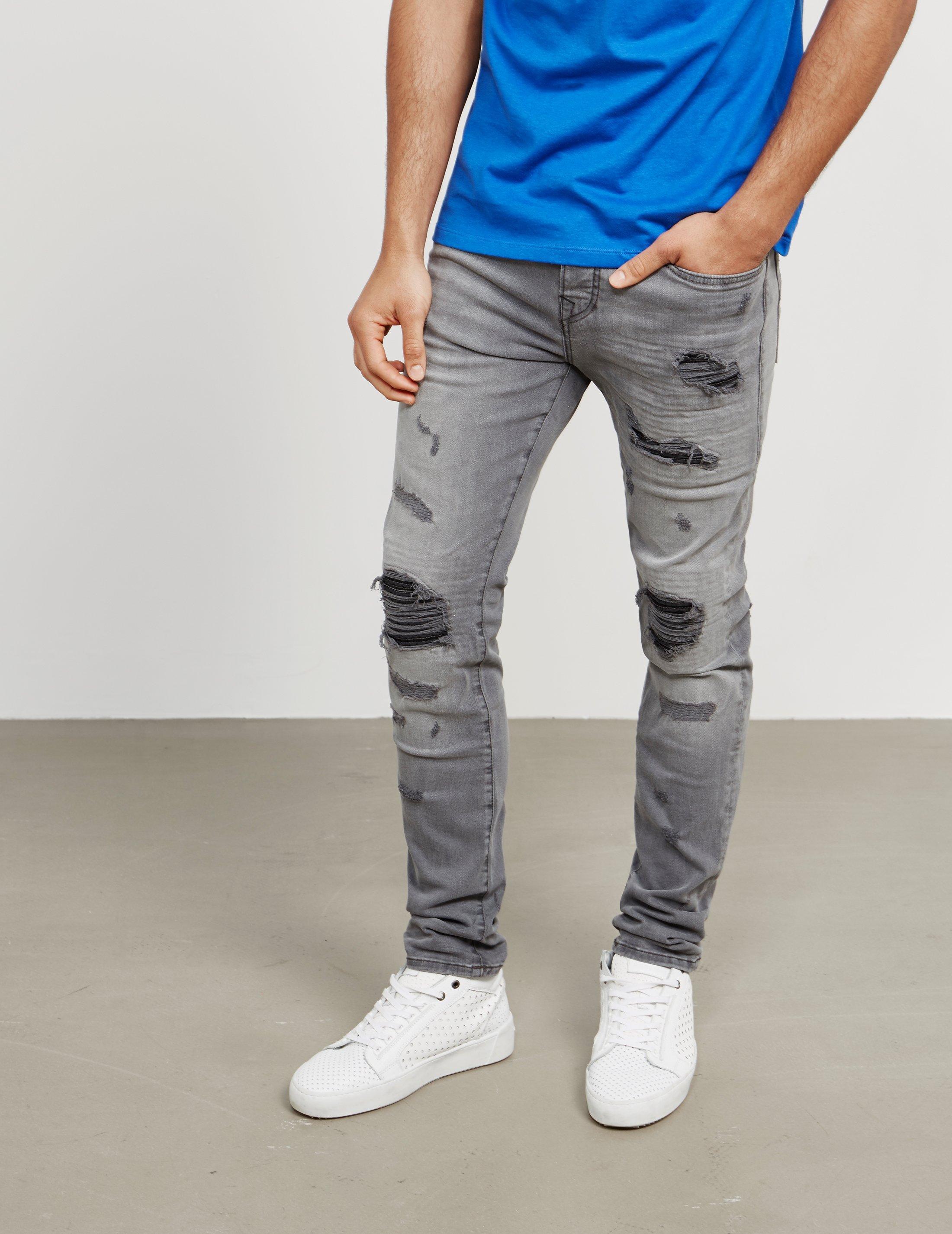 f10477f17976 Lyst - True Religion Mens Rocco Biker Skinny Jeans Black black in ...