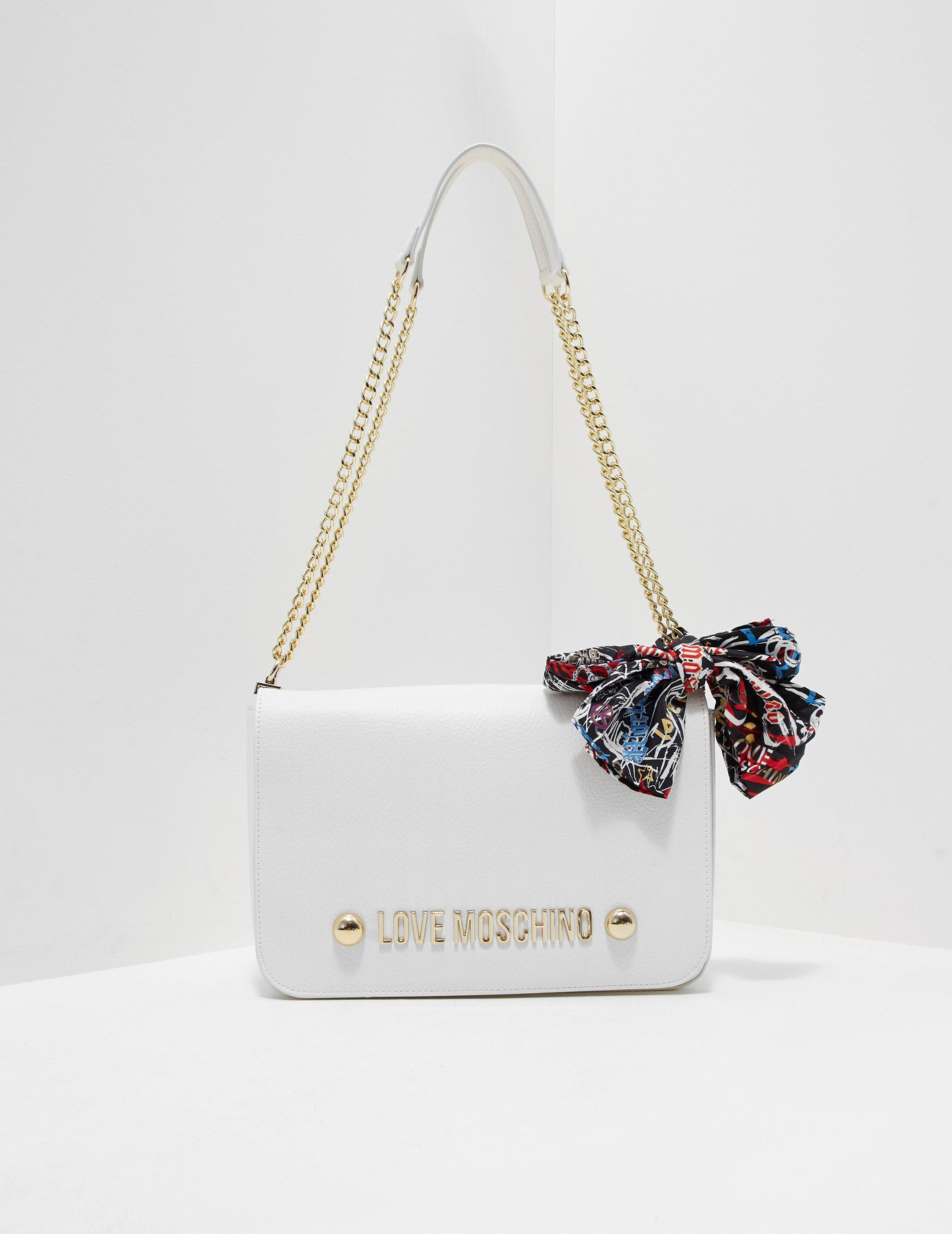 a52aa6107ac Love Moschino Womens Scarf Shoulder Bag White in White - Lyst
