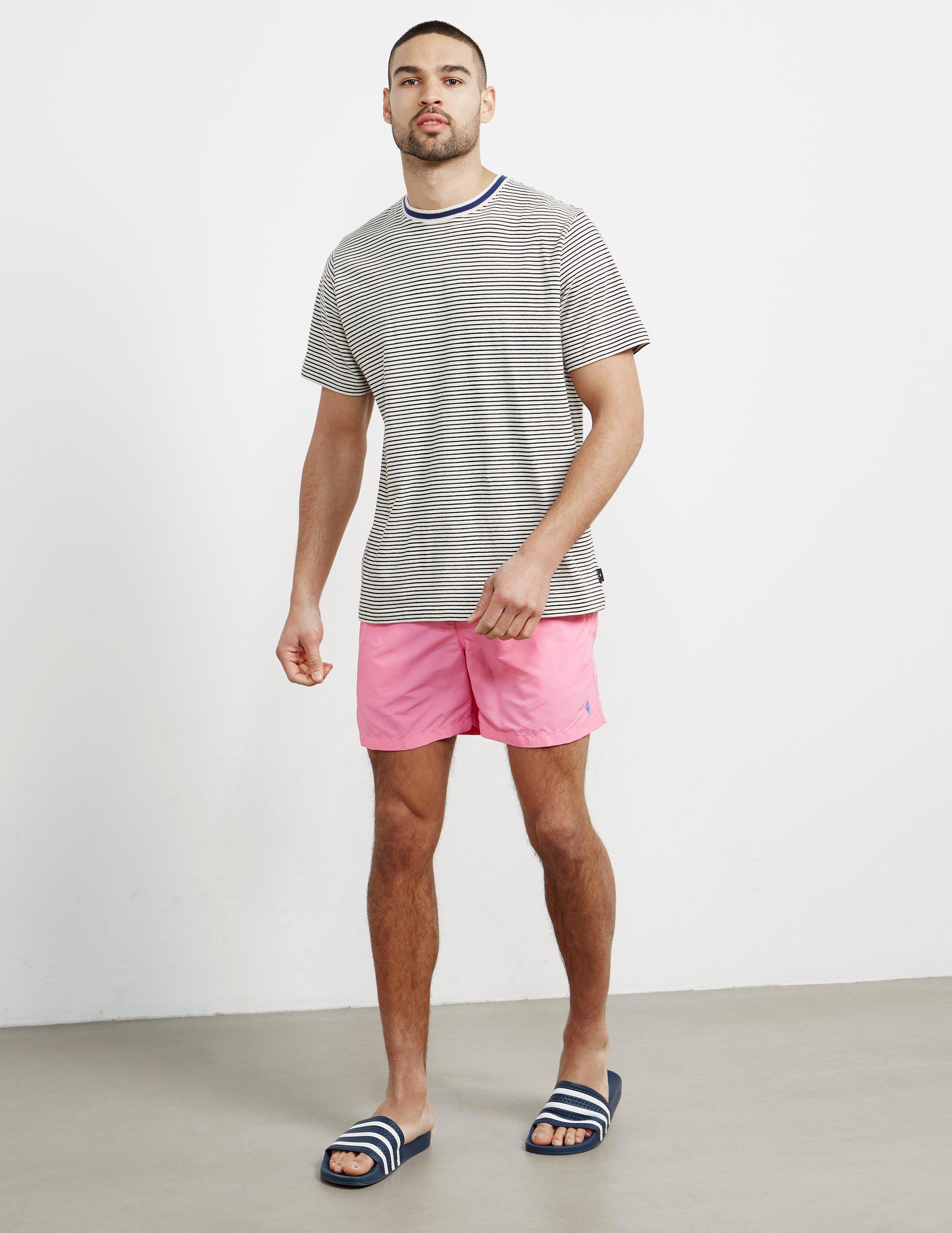 45463abbbe3b ... australia lyst polo ralph lauren mens basic swim shorts pink in pink  for men 3f0e2 4c924