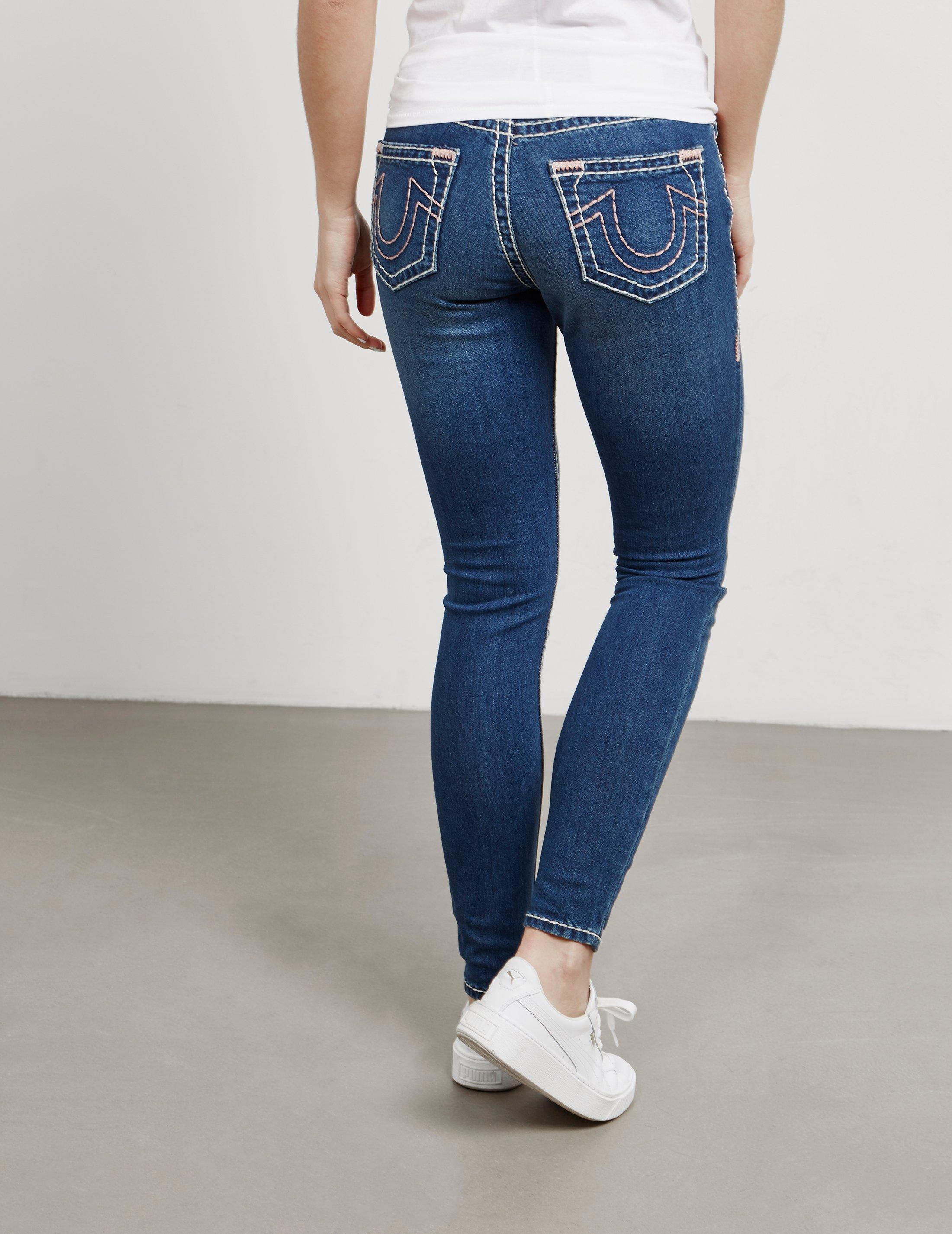 278907146870e True Religion Jennie Super Skinny Jeans Azure Blue/azure Blue in Blue - Lyst