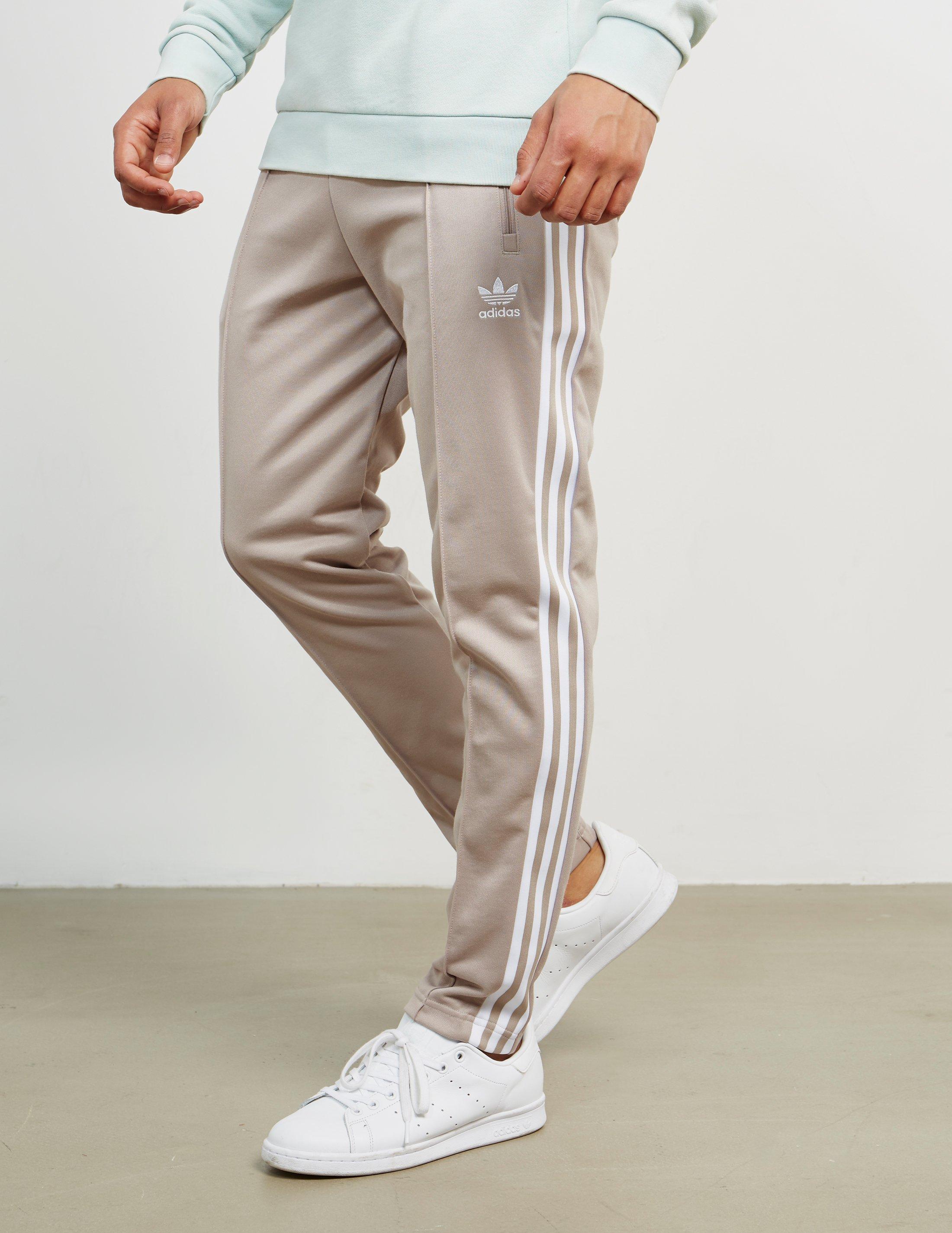 f06329f119b adidas Originals Mens Beckenbauer Cuffed Track Pants Grey in Gray ...