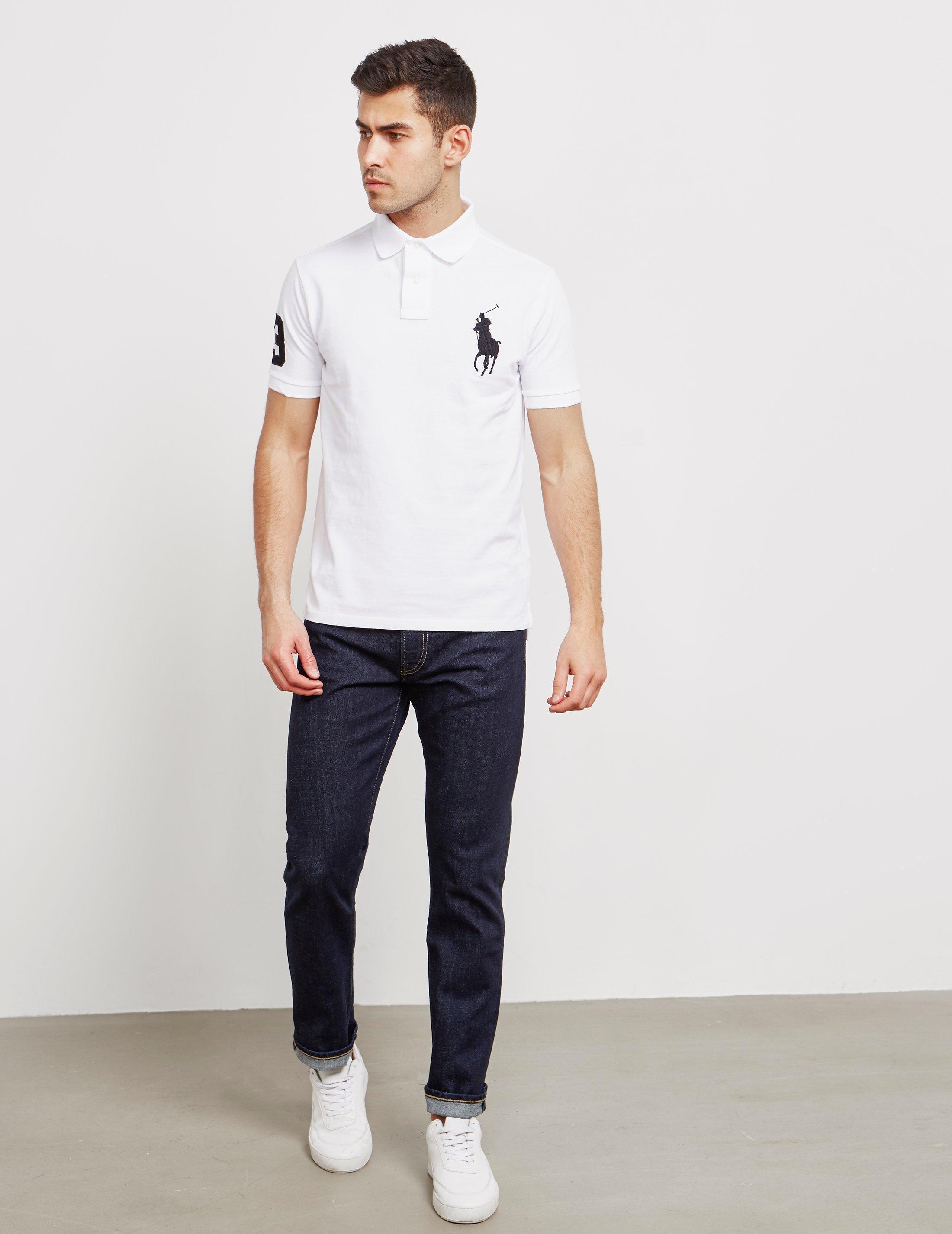 06d22f36100b Lyst - Polo Ralph Lauren Mens Large Embroidered Logo Short Sleeve Polo  Shirt White in White for Men